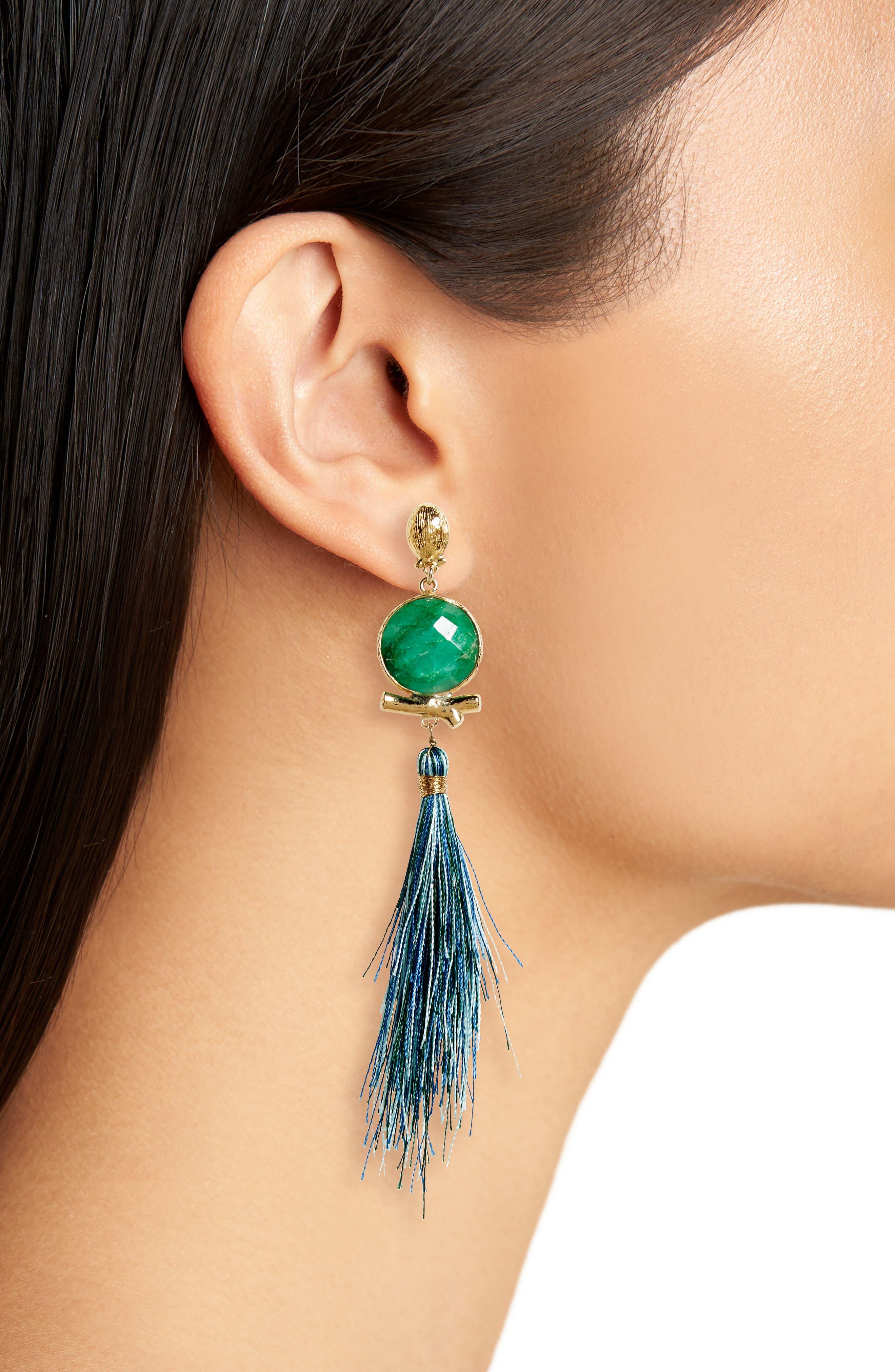 Alternate Image 2  - Gas Bijoux Serti Bella Drop Earrings