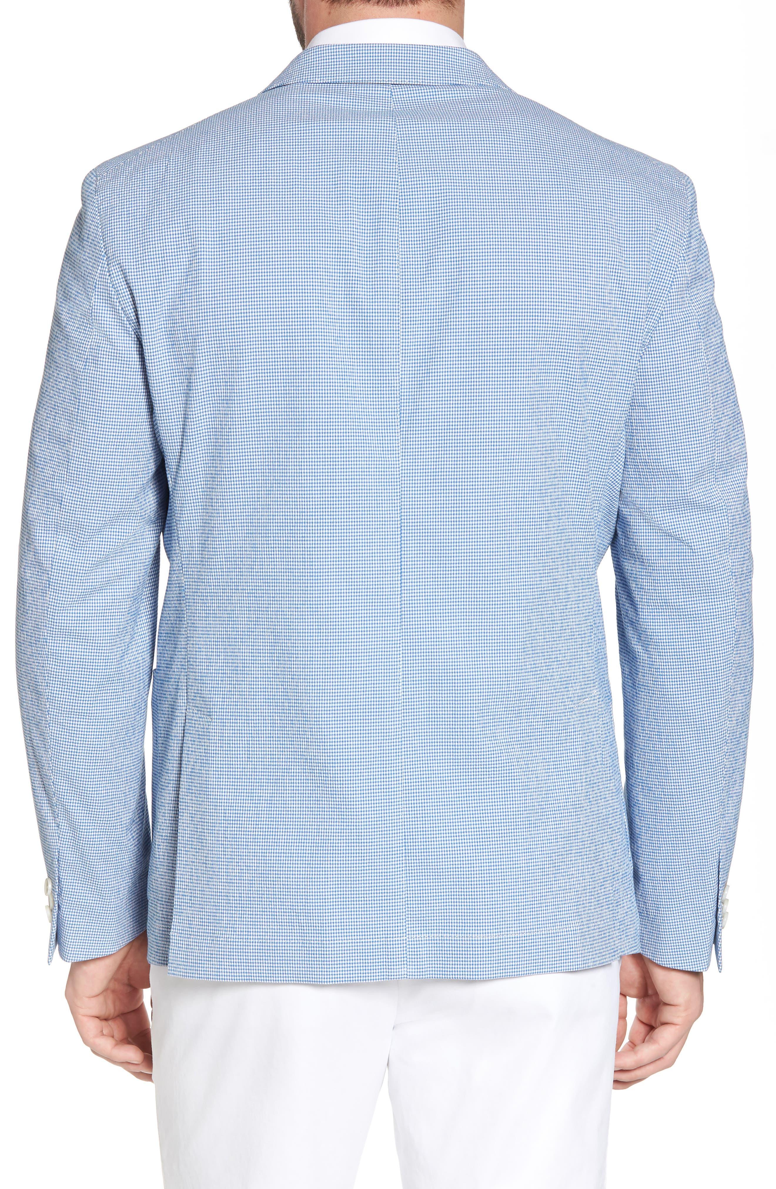 Slim Fit Microcheck Soft Sport Coat,                             Alternate thumbnail 2, color,                             Blue