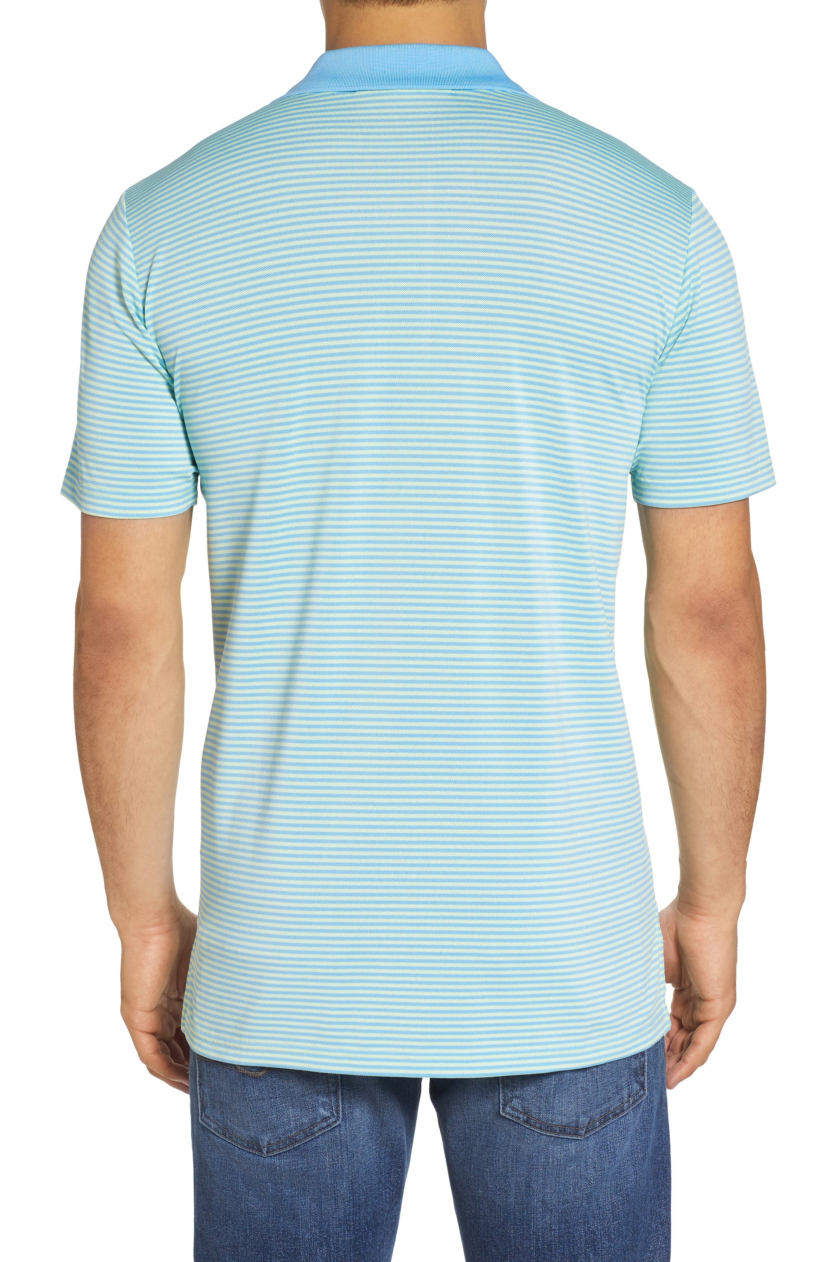 Regular Fit Stripe Stretch Polo,                             Alternate thumbnail 2, color,                             Lime