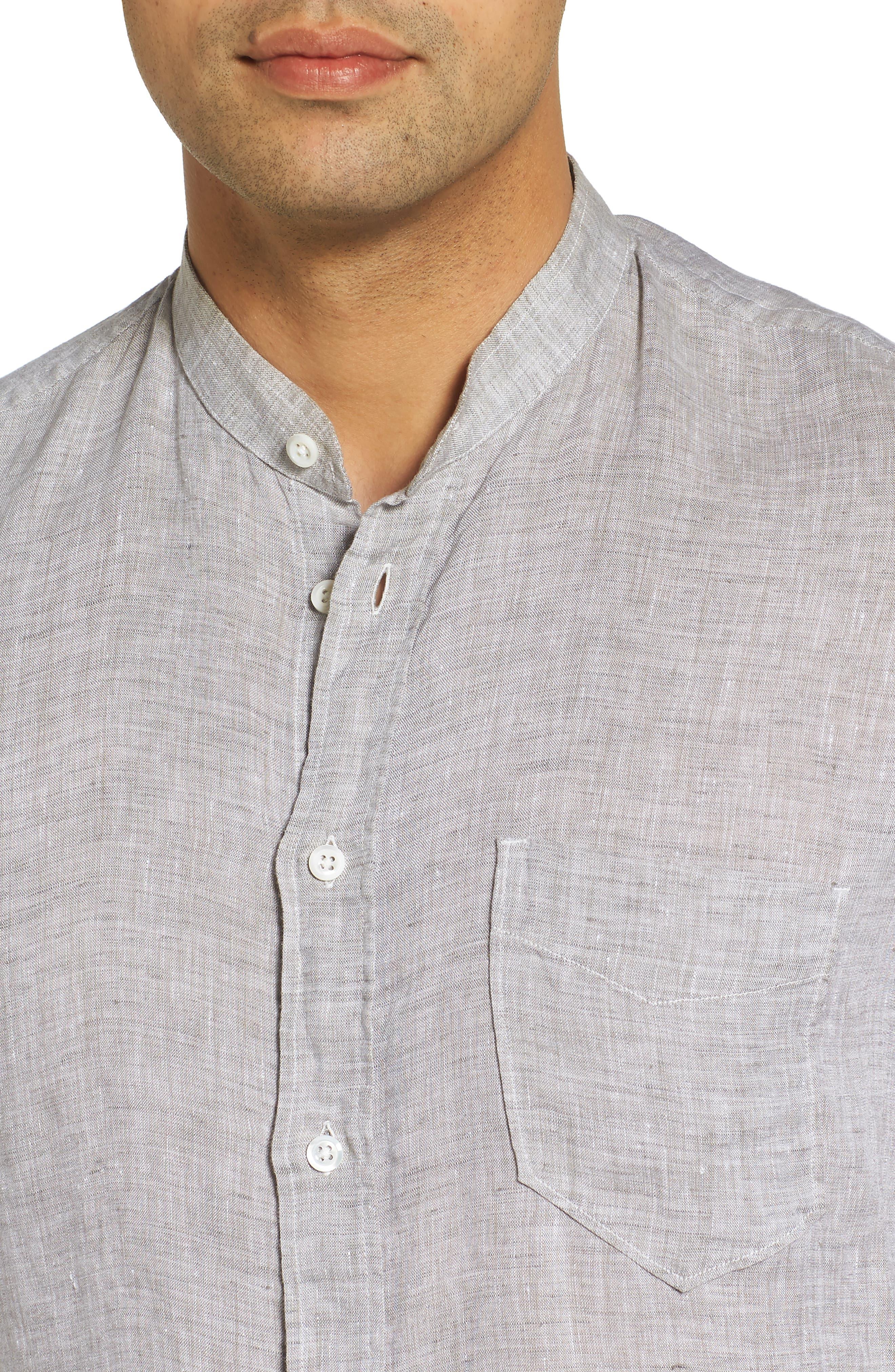 Crawford Sport Shirt,                             Alternate thumbnail 4, color,                             Grey