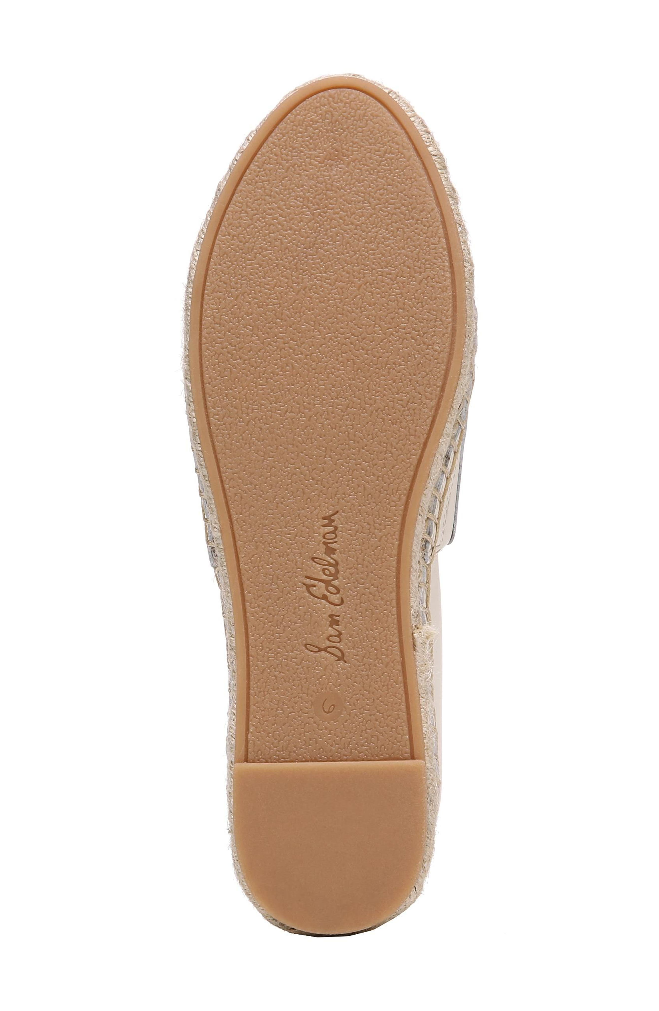 Khloe Espadrille Flat,                             Alternate thumbnail 6, color,                             Modern Ivory Leather