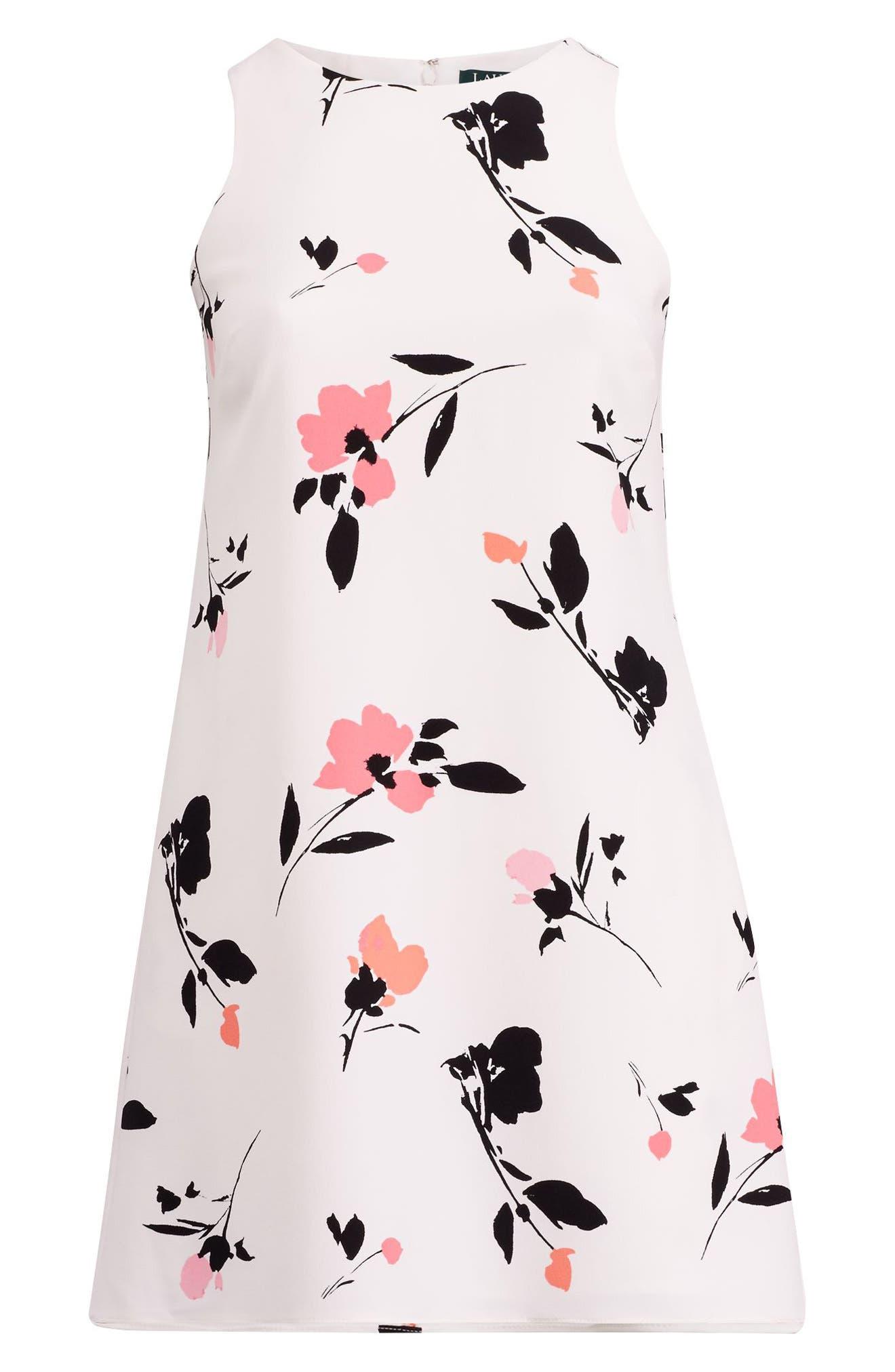 Paland Brunette Park Floral Shift Dress,                             Alternate thumbnail 3, color,                             Col. Cream-Peach-Multi