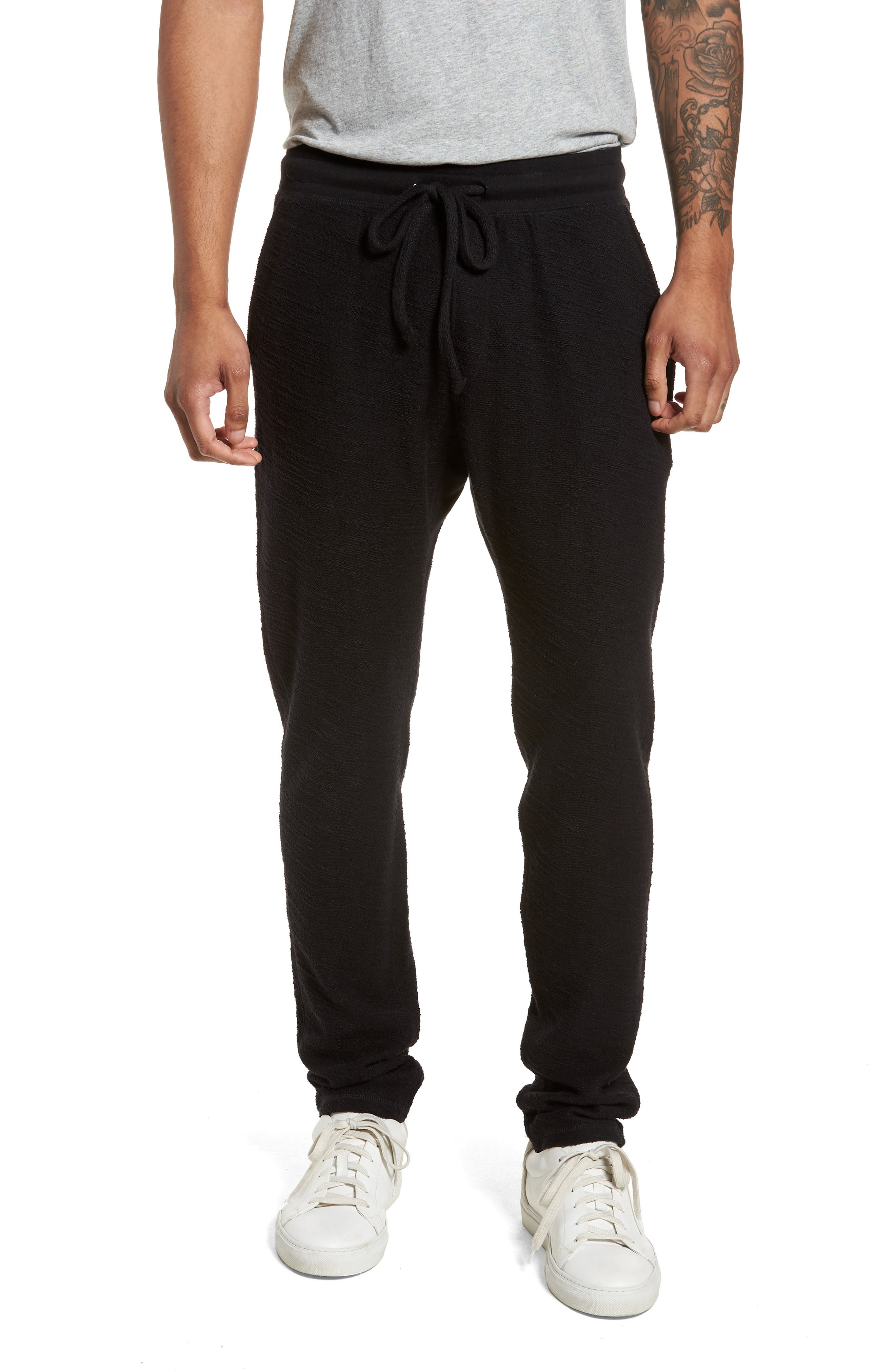Alternate Image 1 Selected - Goodlife Terry Cloth Cotton Blend Pants