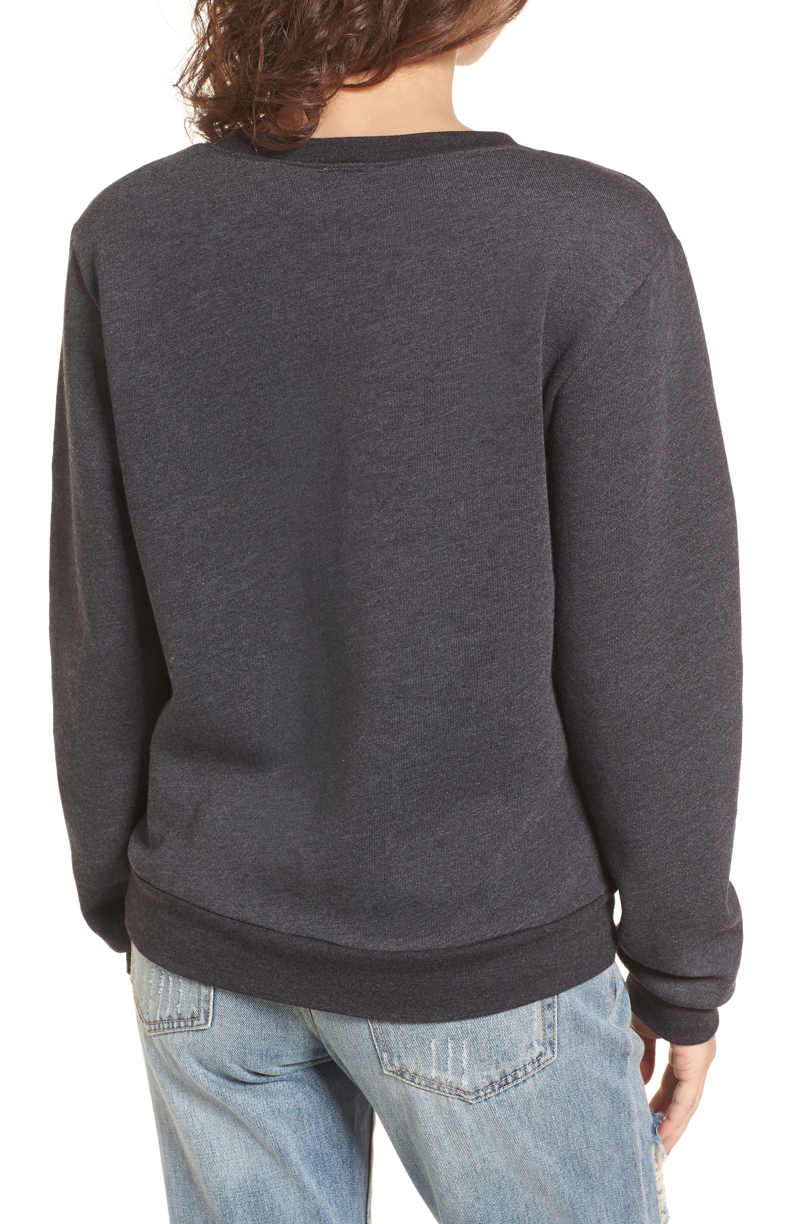Bonjour Sweatshirt,                             Alternate thumbnail 2, color,                             Faded Black