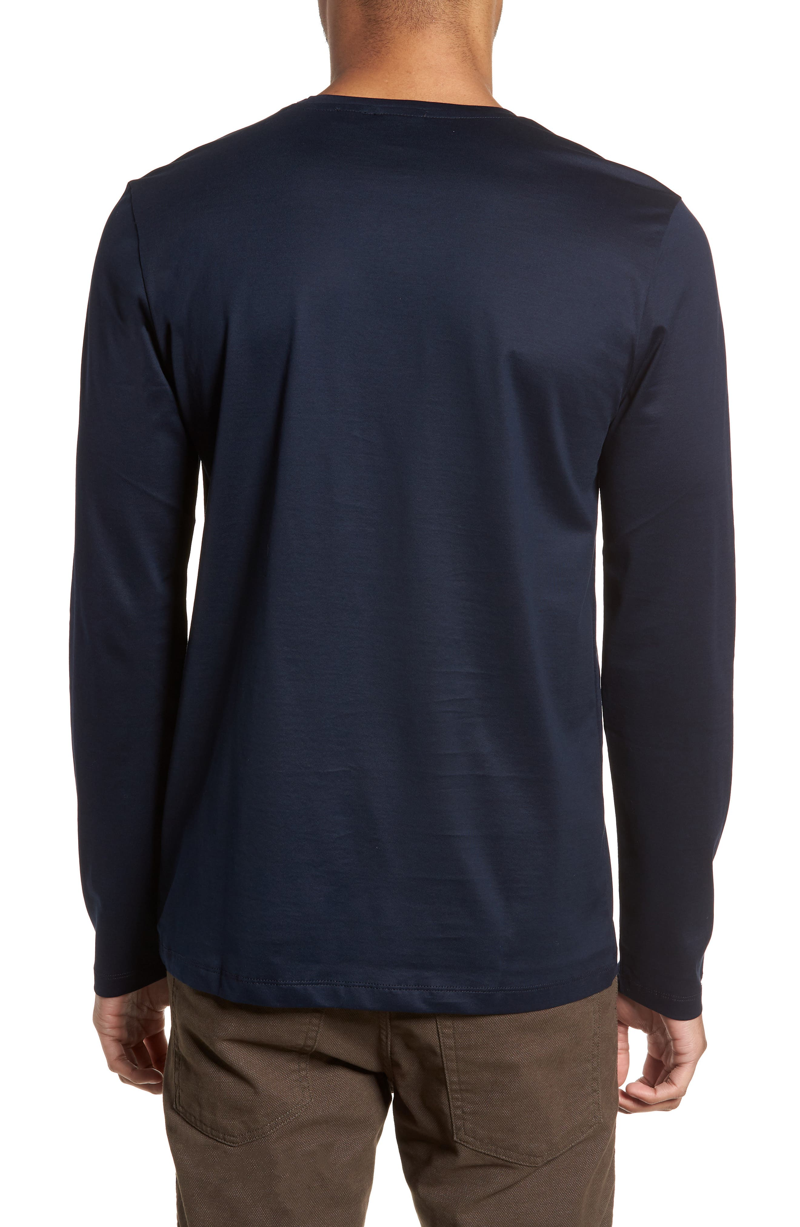 Alternate Image 2  - BOSS Tenison Slim Fit Ombre Check Long Sleeve T-shirt