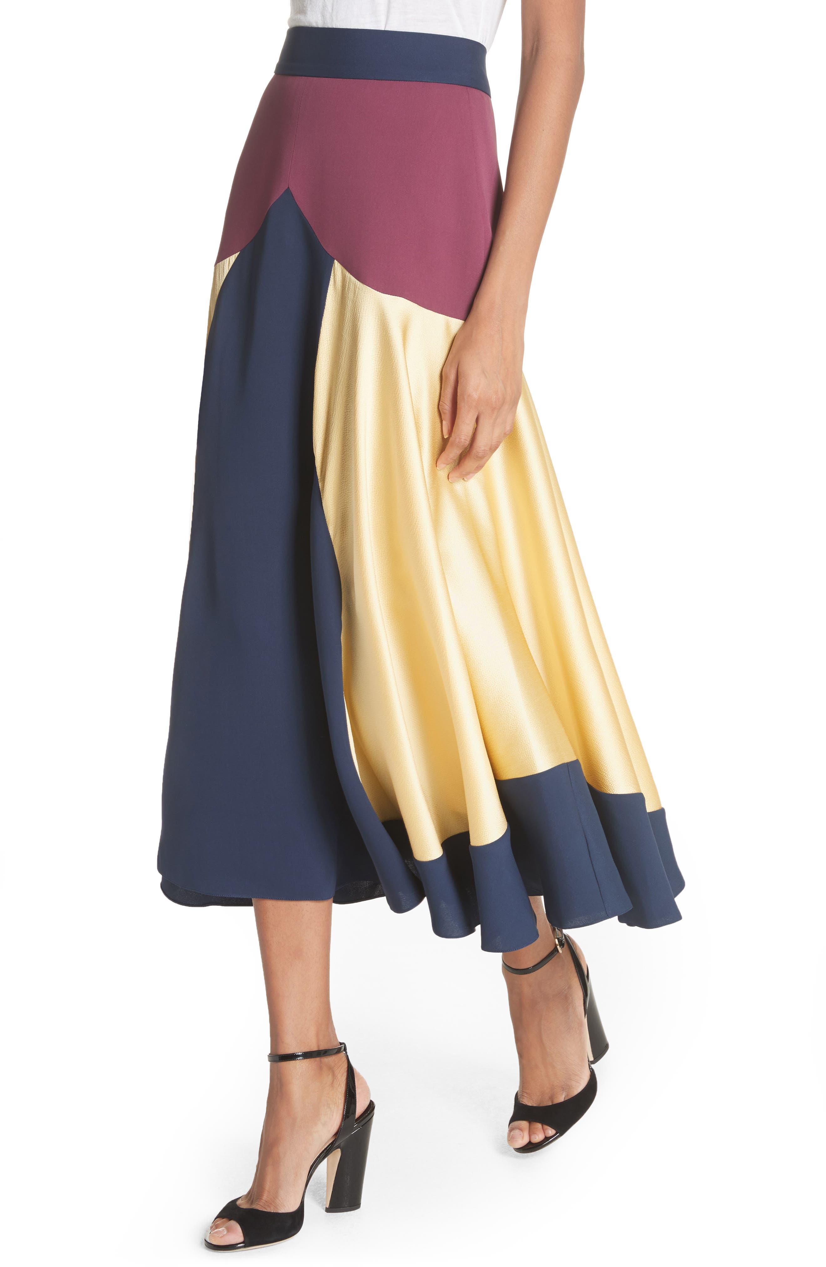 Rania Skirt,                             Alternate thumbnail 4, color,                             Sorbet/ Plum/ Navy