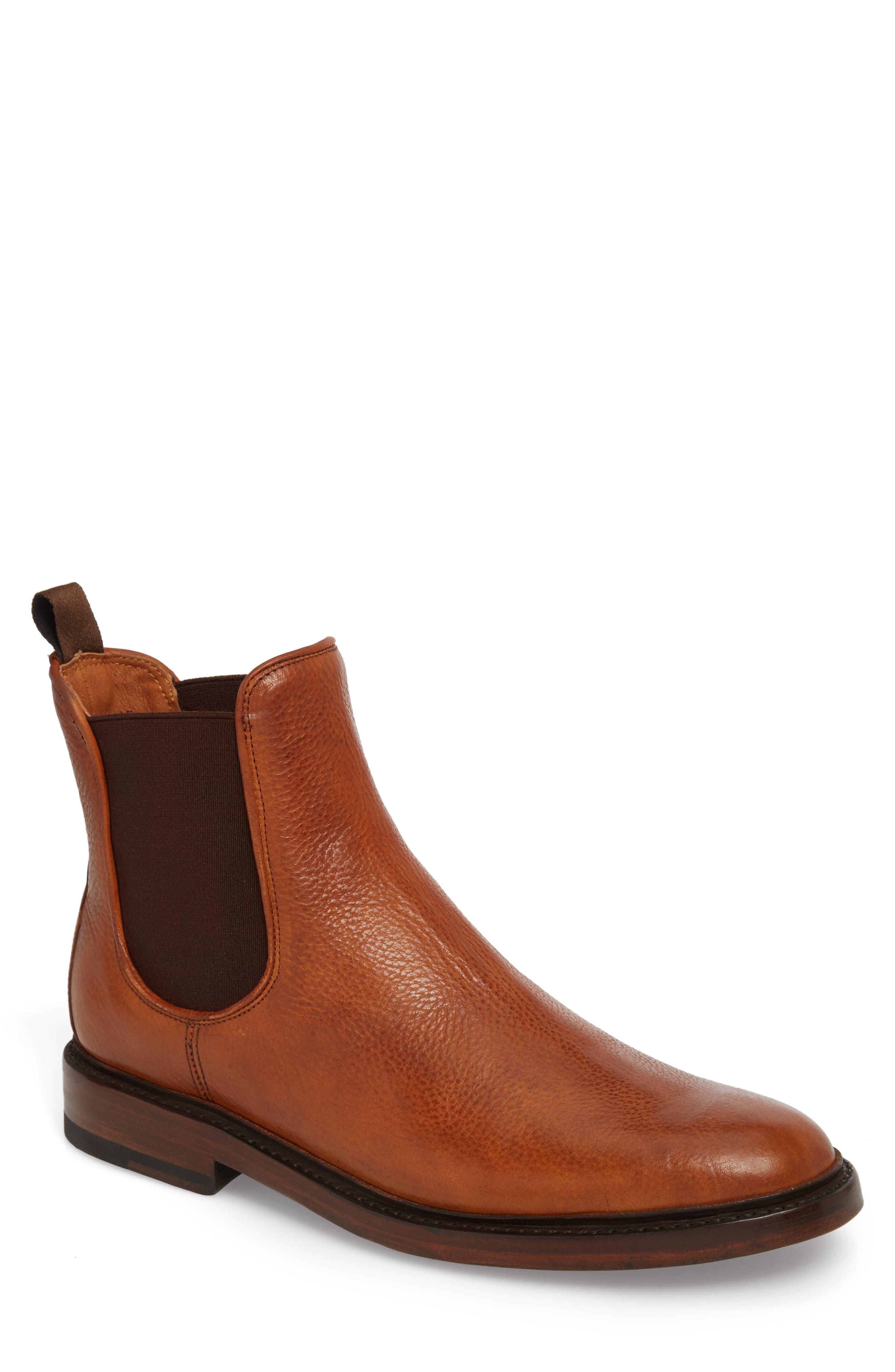 Jones Chelsea Boot,                         Main,                         color, Caramel Leather