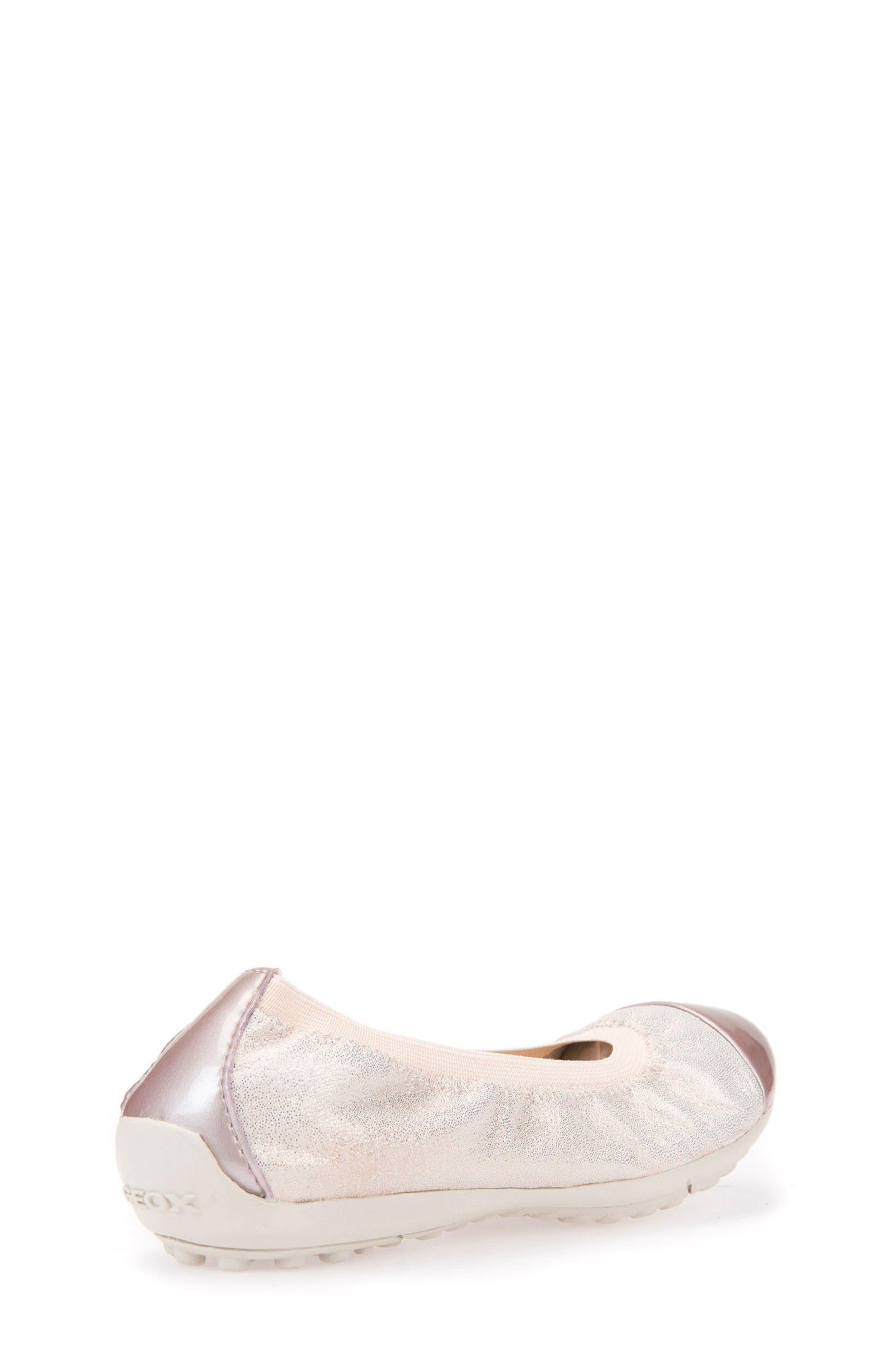 Alternate Image 2  - Geox Piuma Cap Toe Glitter Ballerina Flat