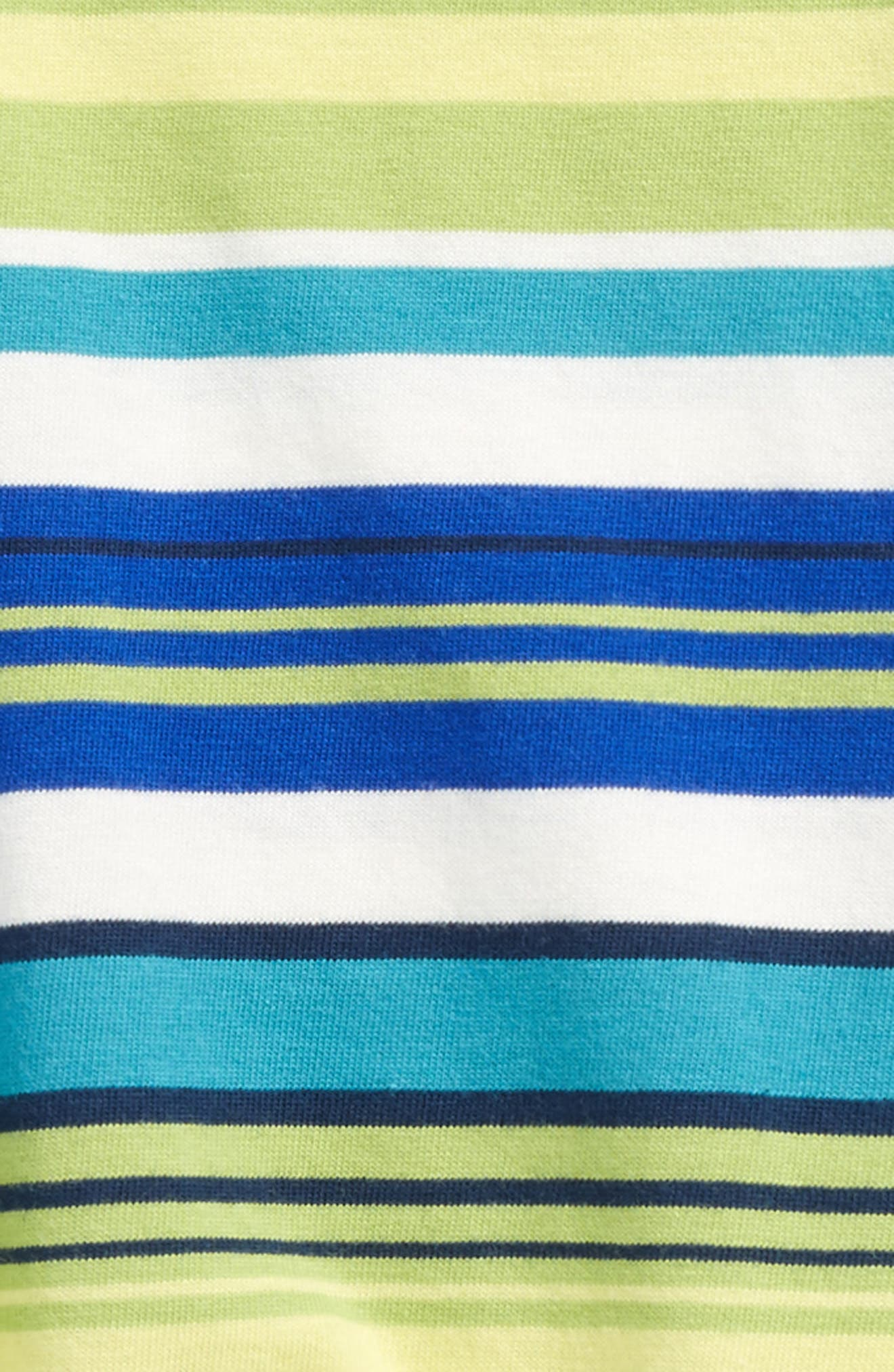 Alternate Image 2  - Tea Collection Stripe Romper (Baby Boys)