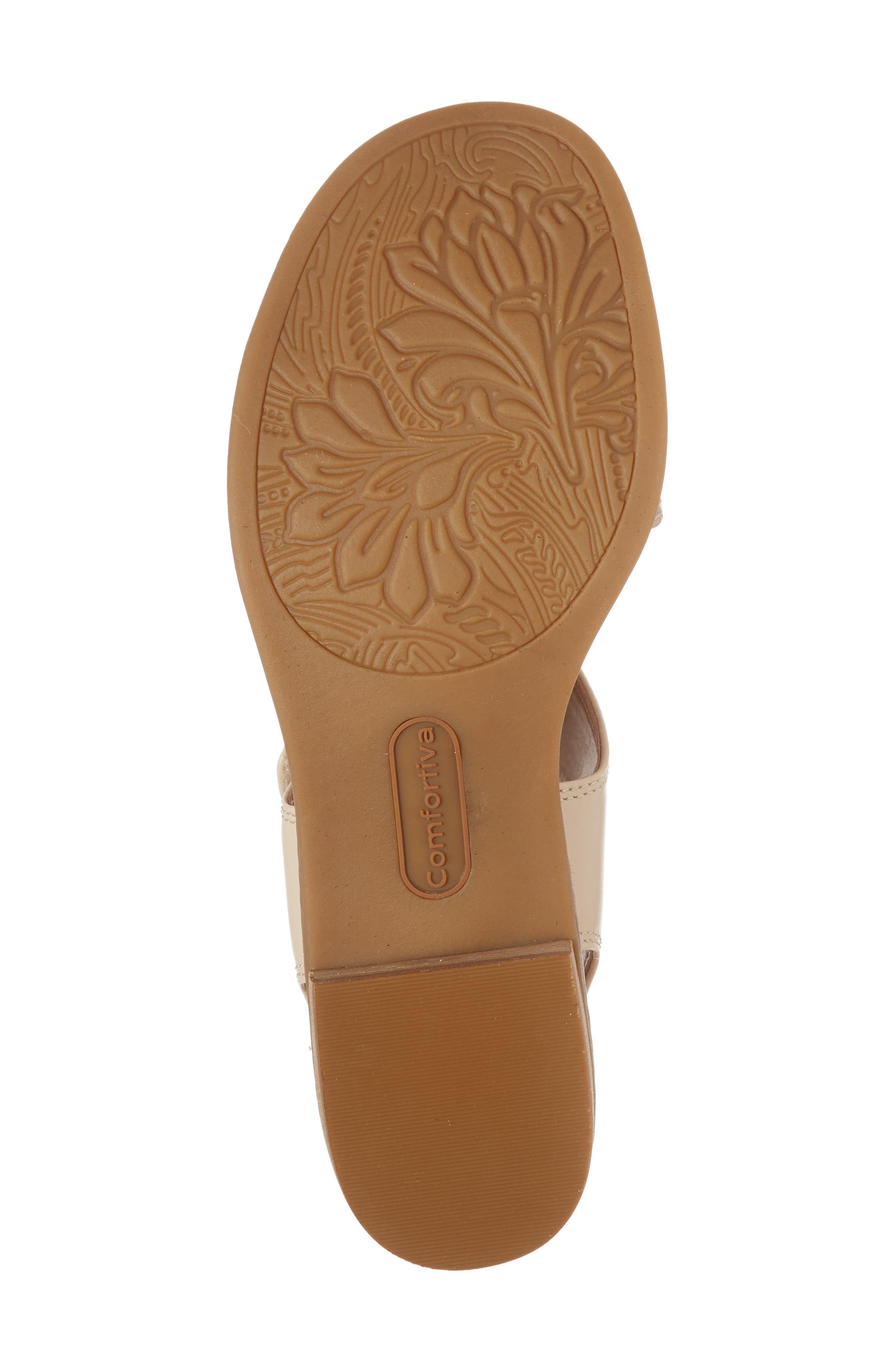 Baja Sandal,                             Alternate thumbnail 6, color,                             Champagne/ Beige Leather