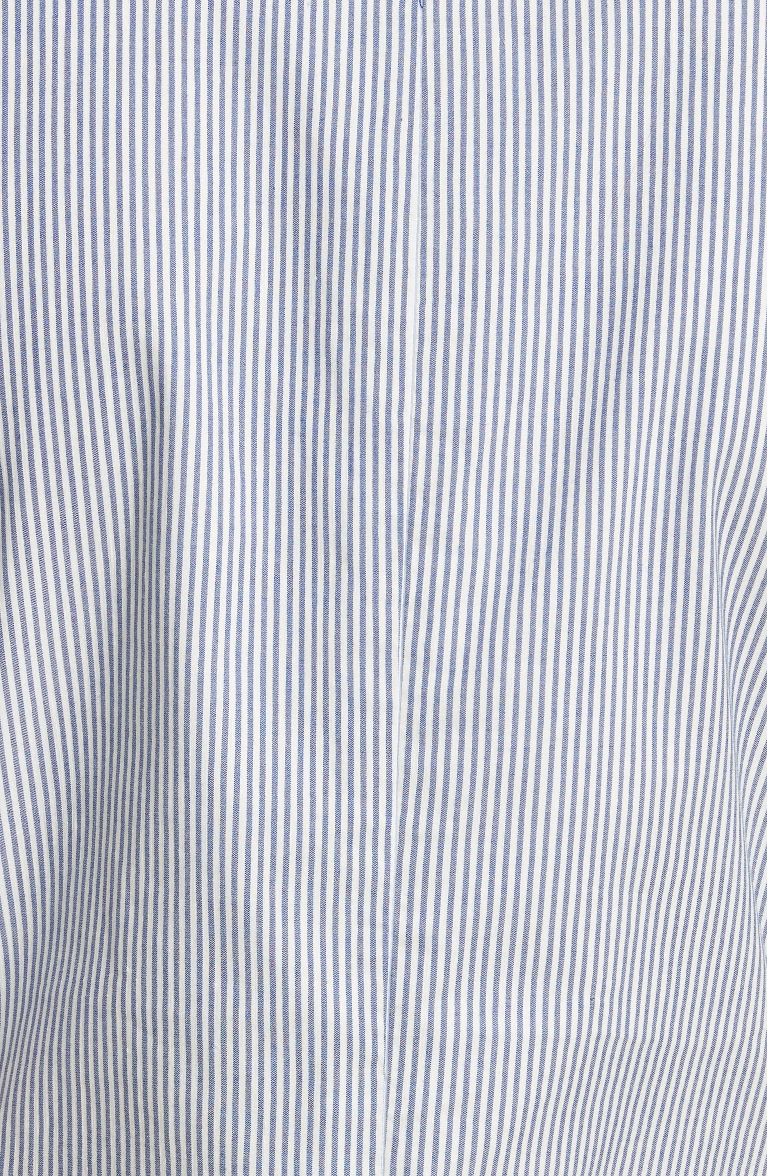 Prose & Poetry Camila Double Front Tie Midi Dress,                             Alternate thumbnail 5, color,                             Canvas Stripe