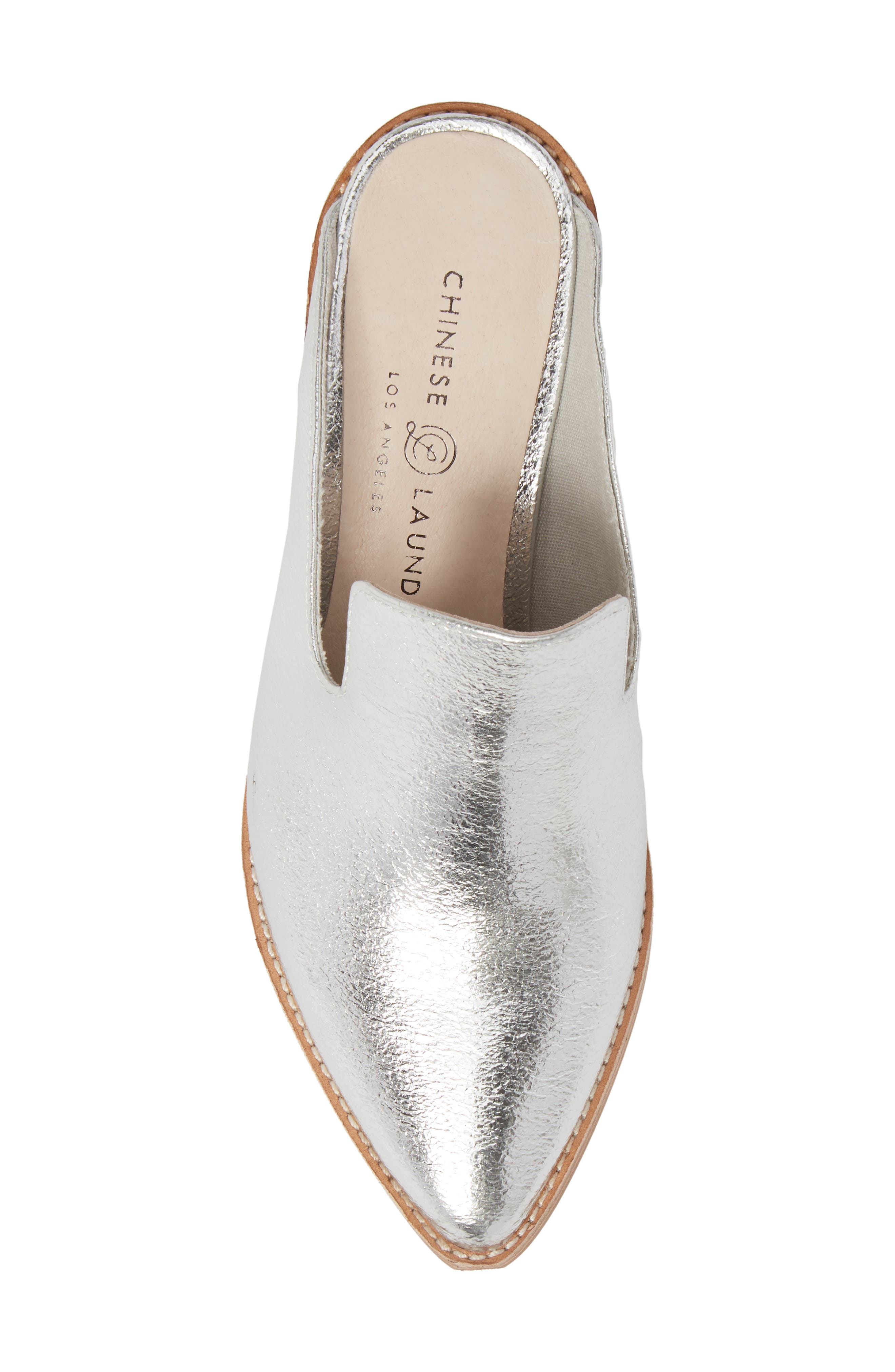 Marnie Loafer Mule,                             Alternate thumbnail 5, color,                             Silver