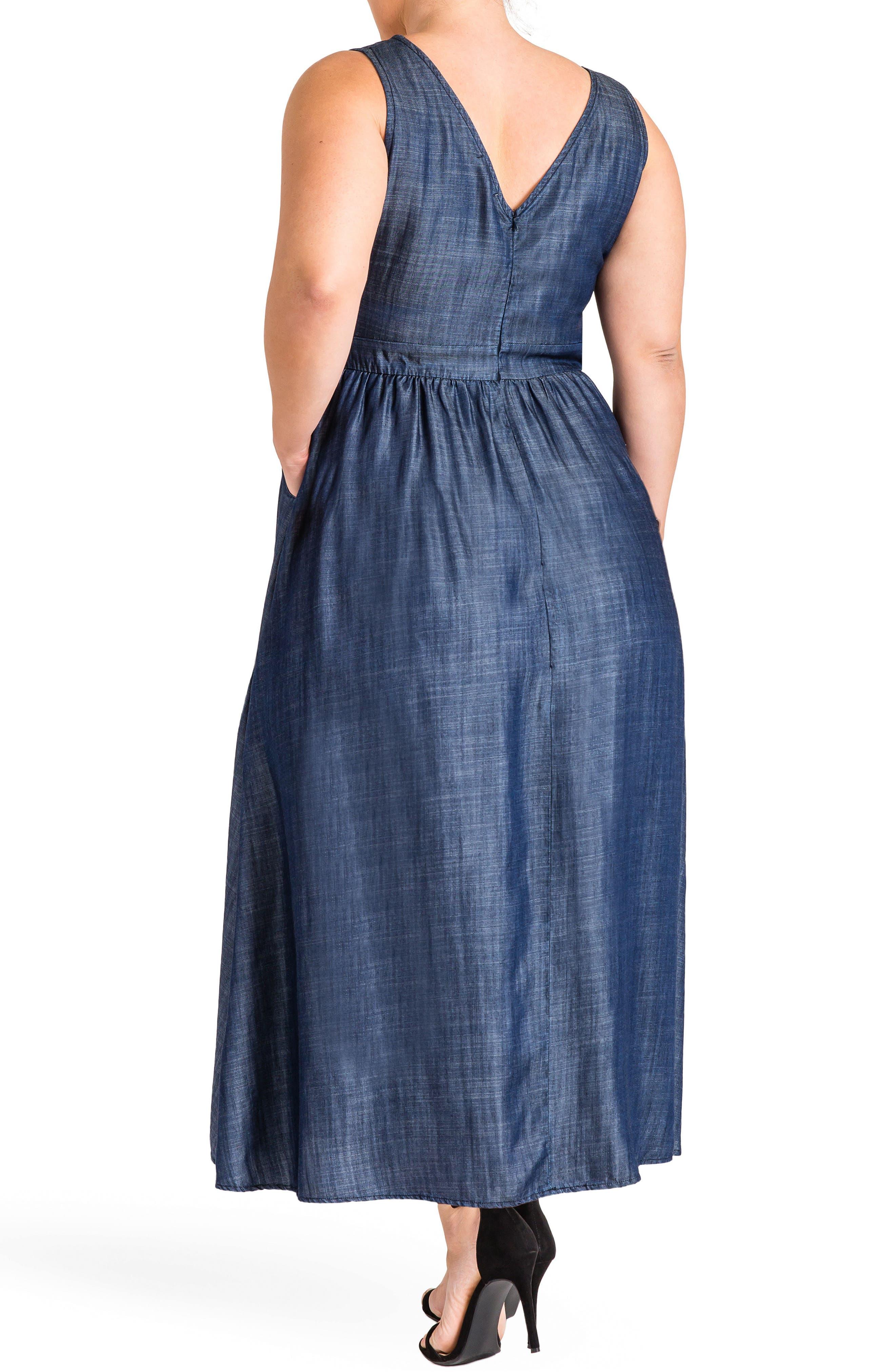 Nimah Maxi Dress,                             Alternate thumbnail 2, color,                             Dark Blue