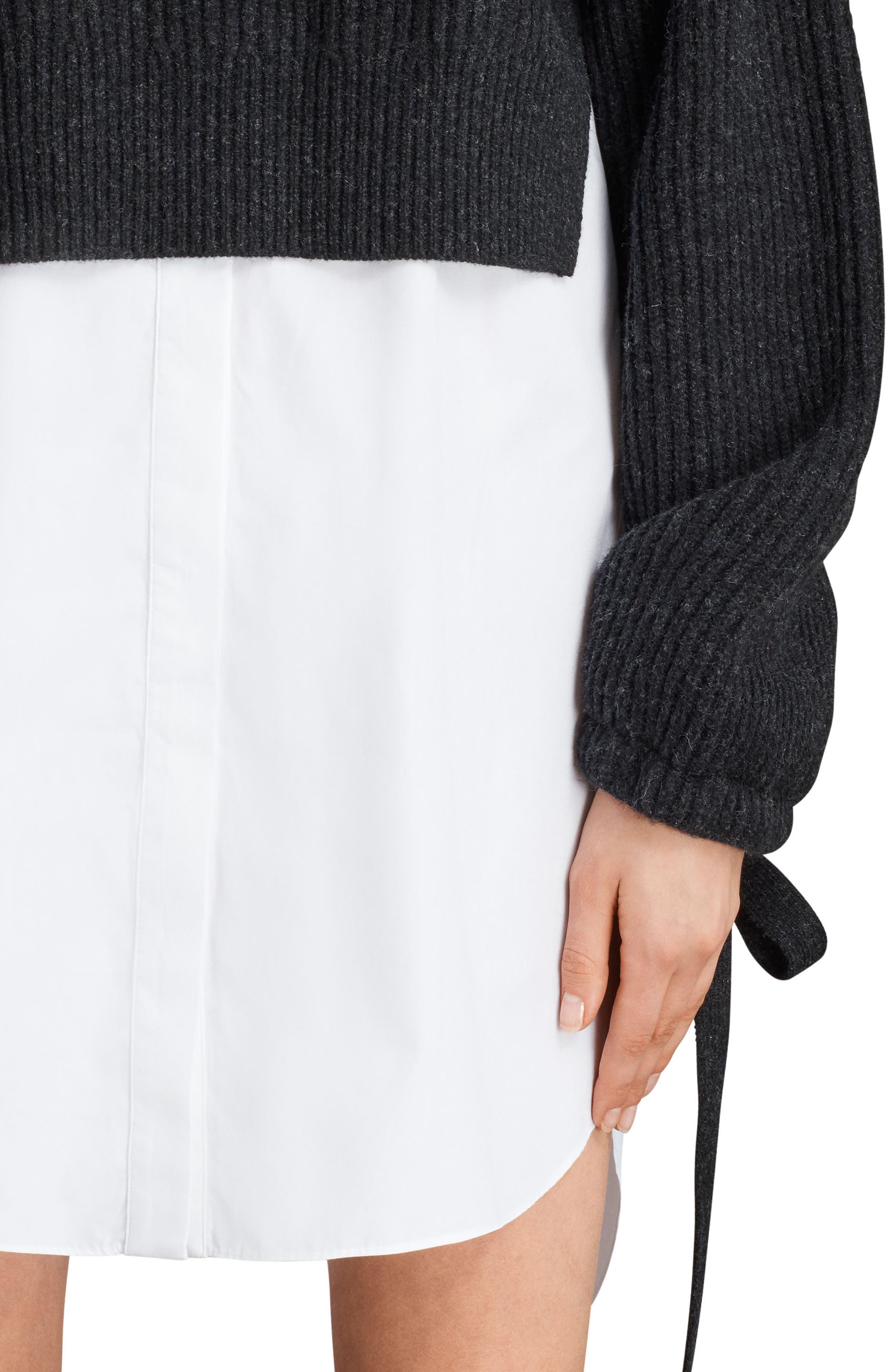 Sura Sweater Dress,                             Alternate thumbnail 5, color,                             Cinder Black Marl