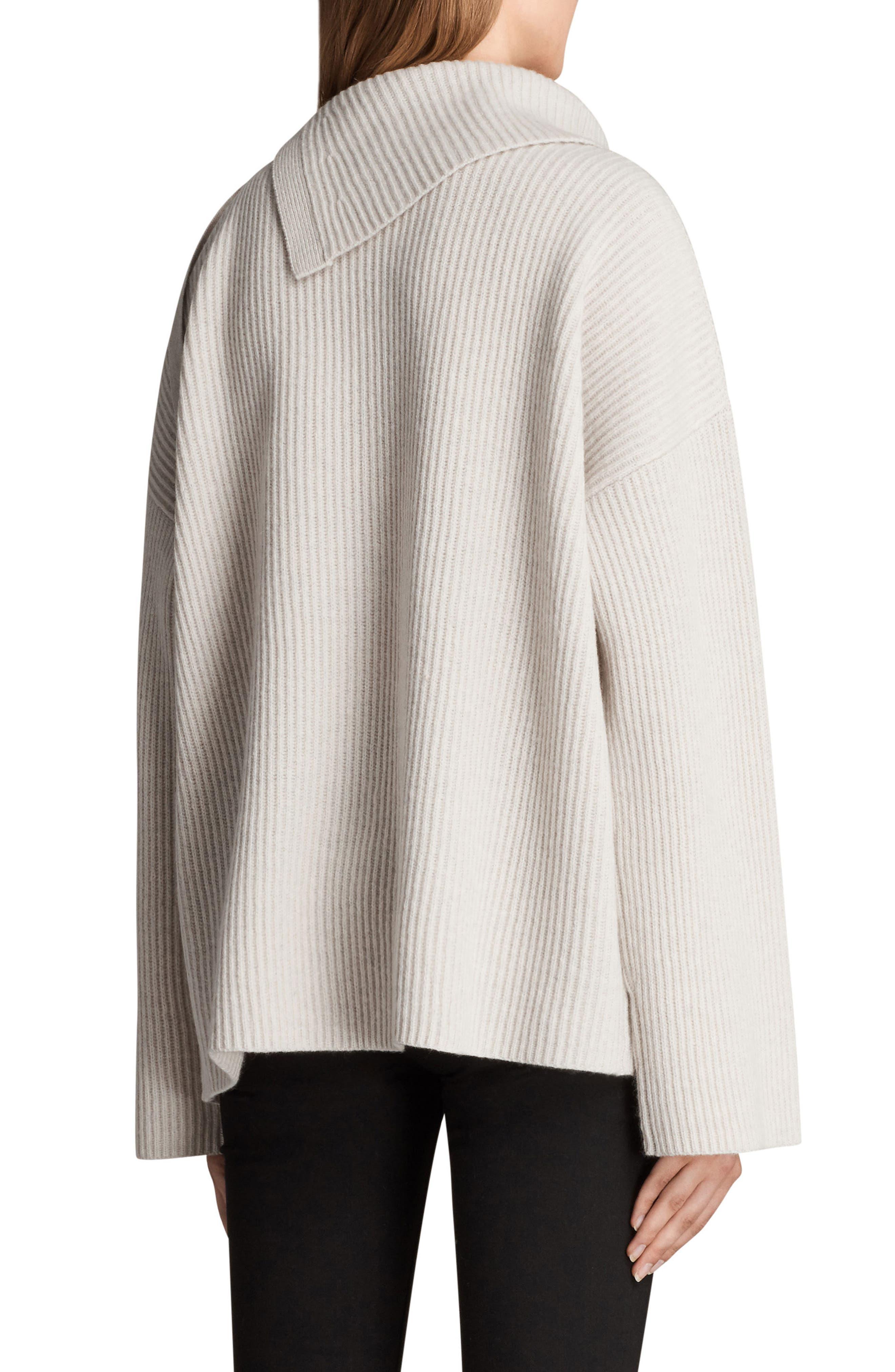 Sura Tie Neck Sweater,                             Alternate thumbnail 2, color,                             Wild Oat