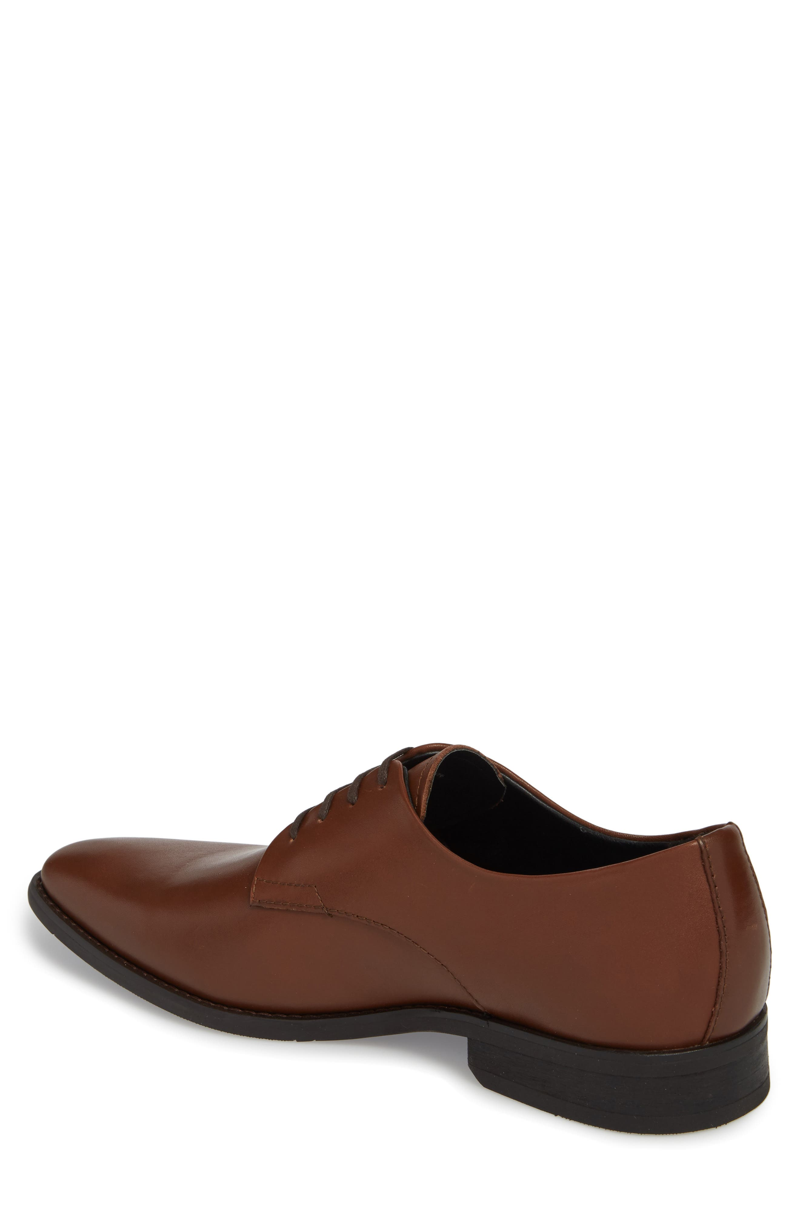 'Ramses' Plain Toe Derby,                             Alternate thumbnail 2, color,                             Tan Leather