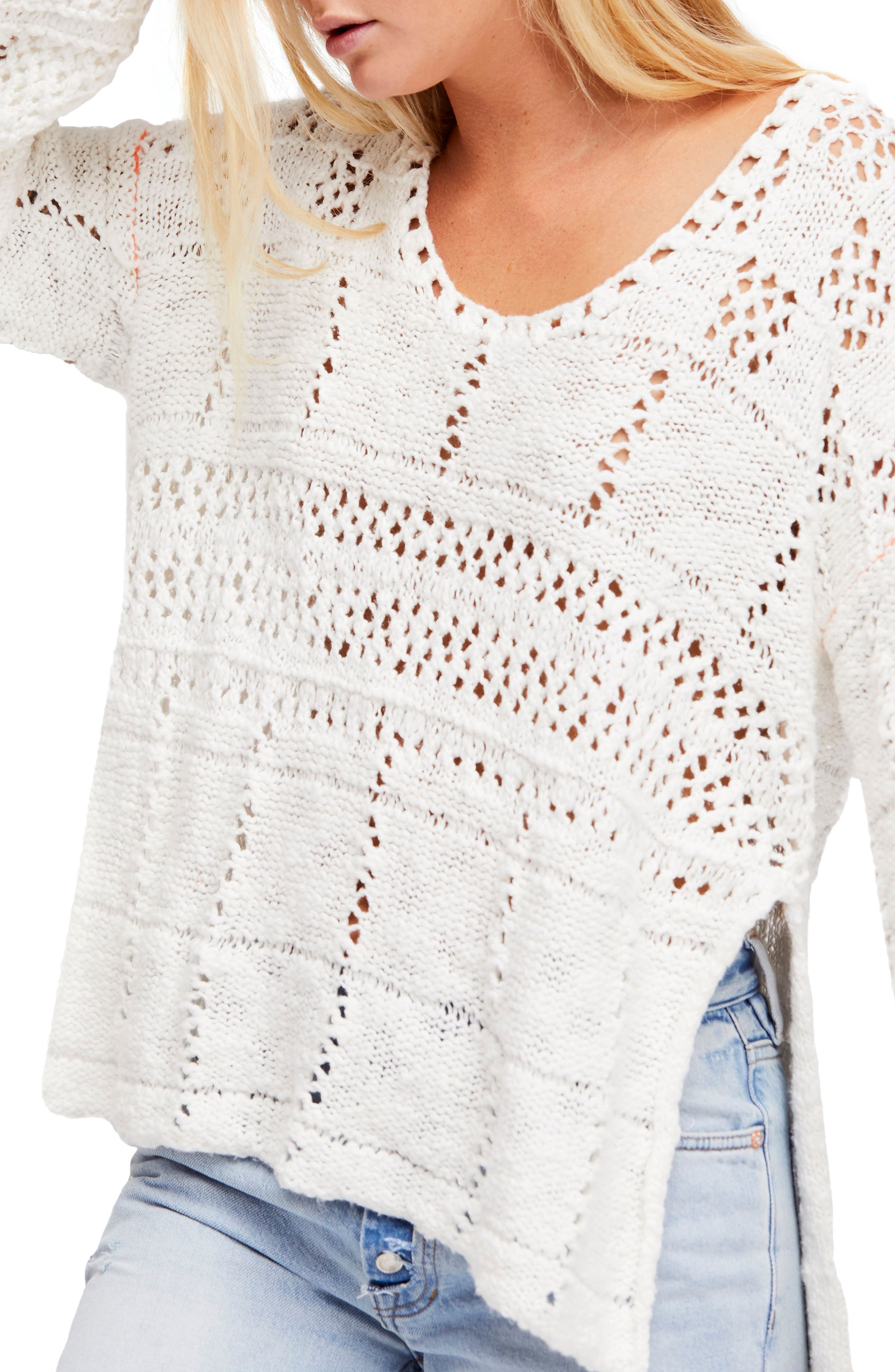 Free People Flower Child Knit Tunic