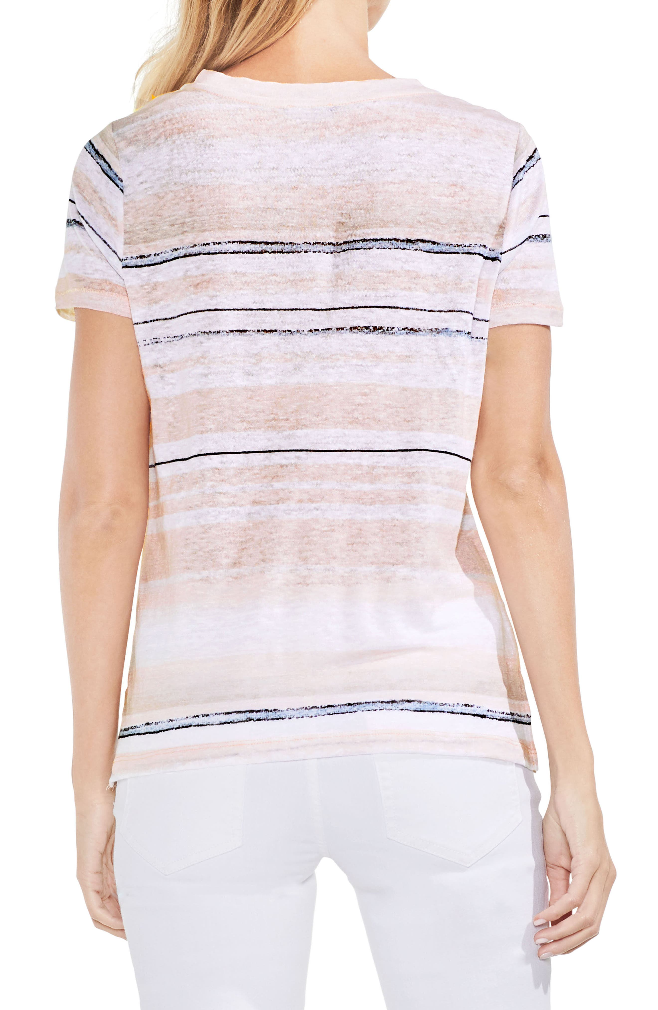 Soft Dunes Stripe Tee,                             Alternate thumbnail 2, color,                             French Peach