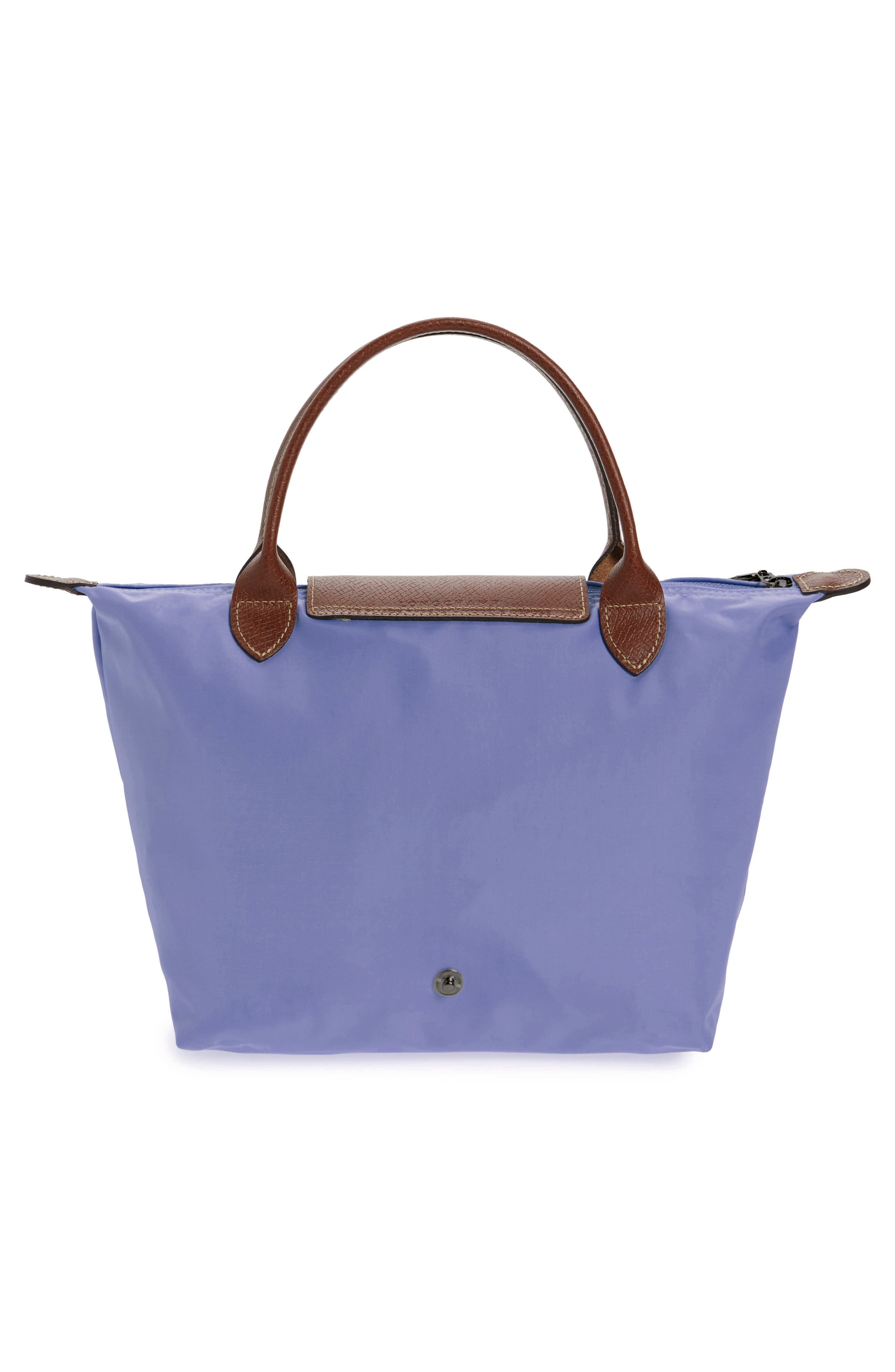 'Small Le Pliage' Top Handle Tote,                             Alternate thumbnail 3, color,                             Lavender