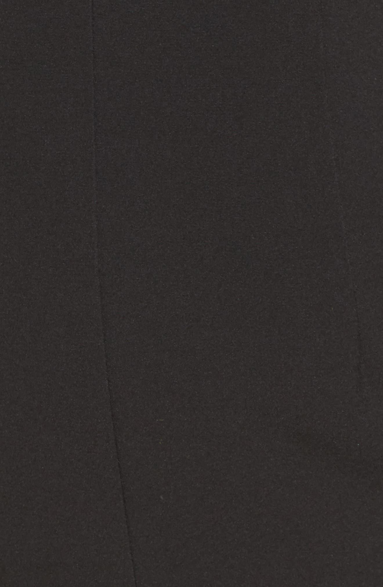 Autumn Off the Shoulder Gown,                             Alternate thumbnail 5, color,                             Black