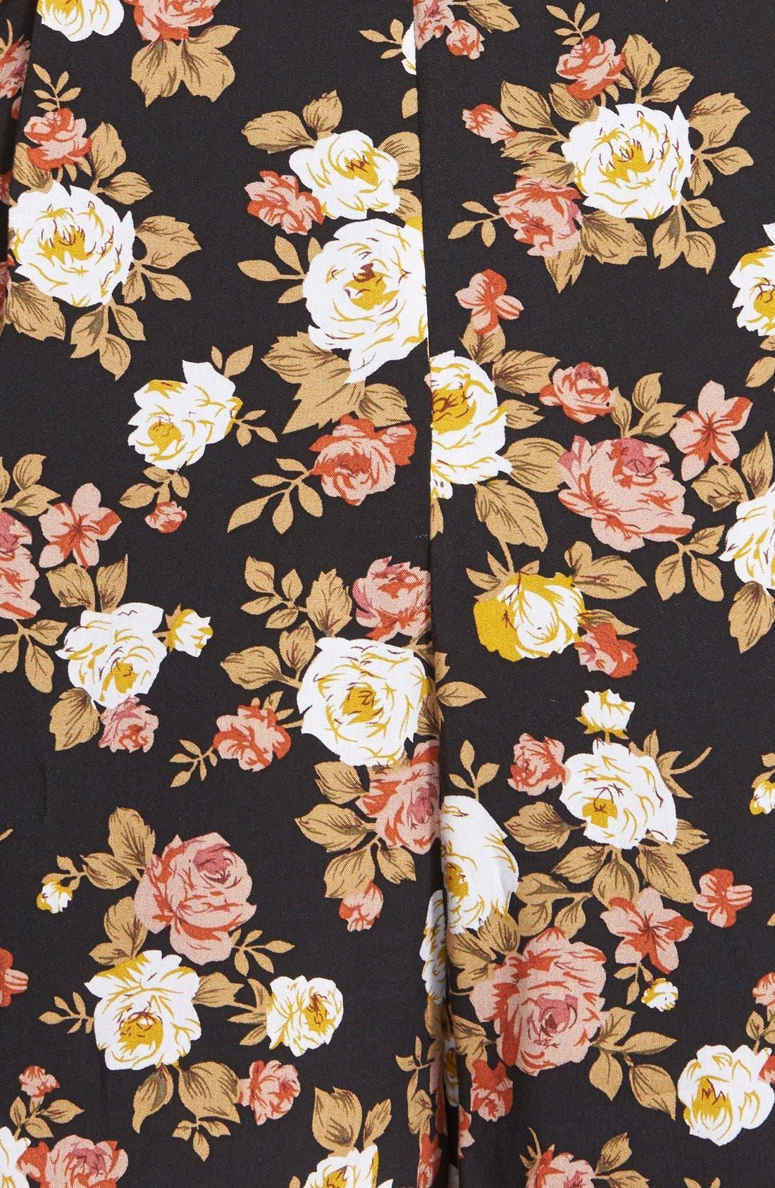 Alternate Image 3  - Glamorous Floral Print Long Sleeve Romper