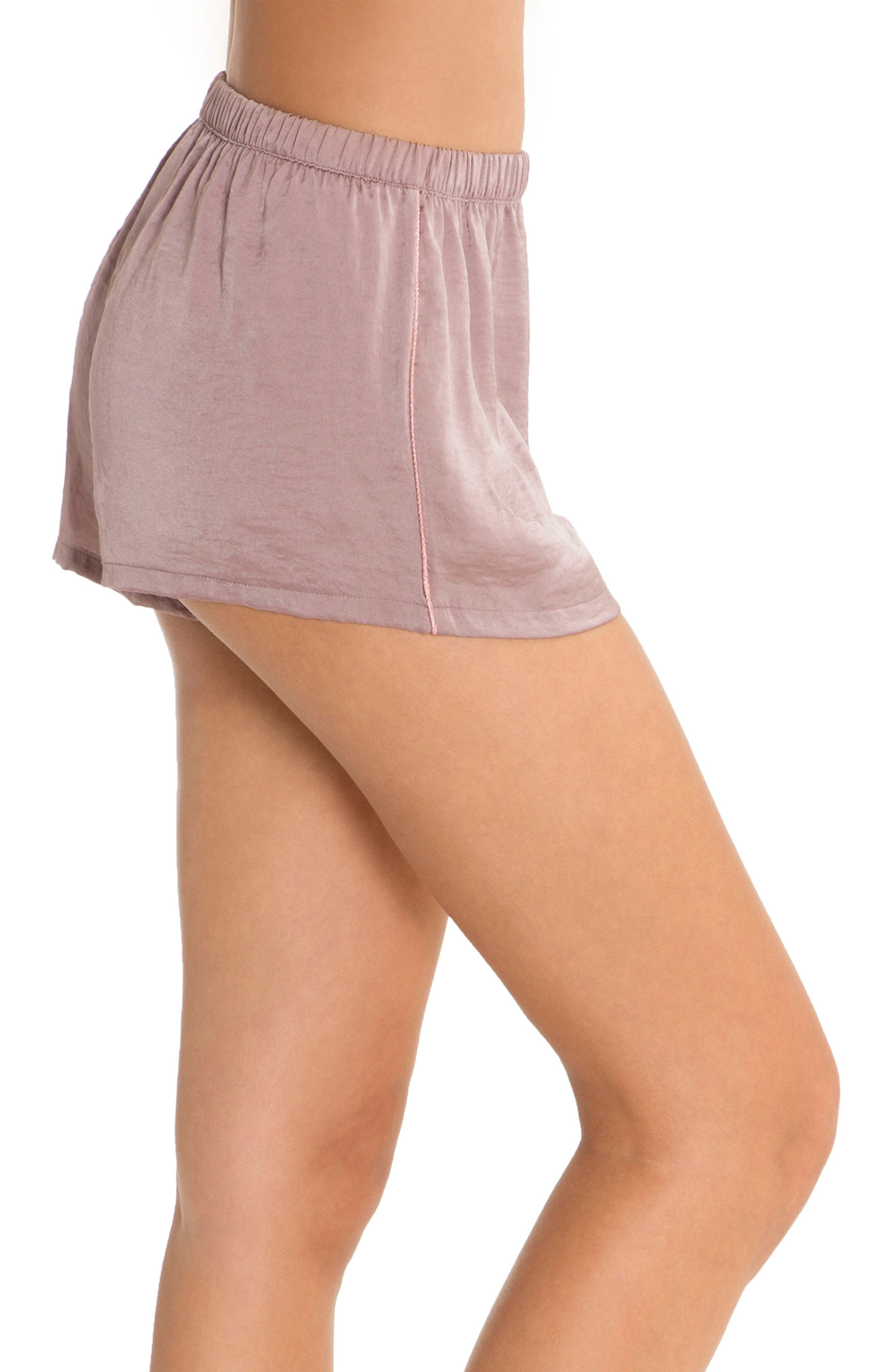 Pajama Shorts,                             Alternate thumbnail 3, color,                             Lilac