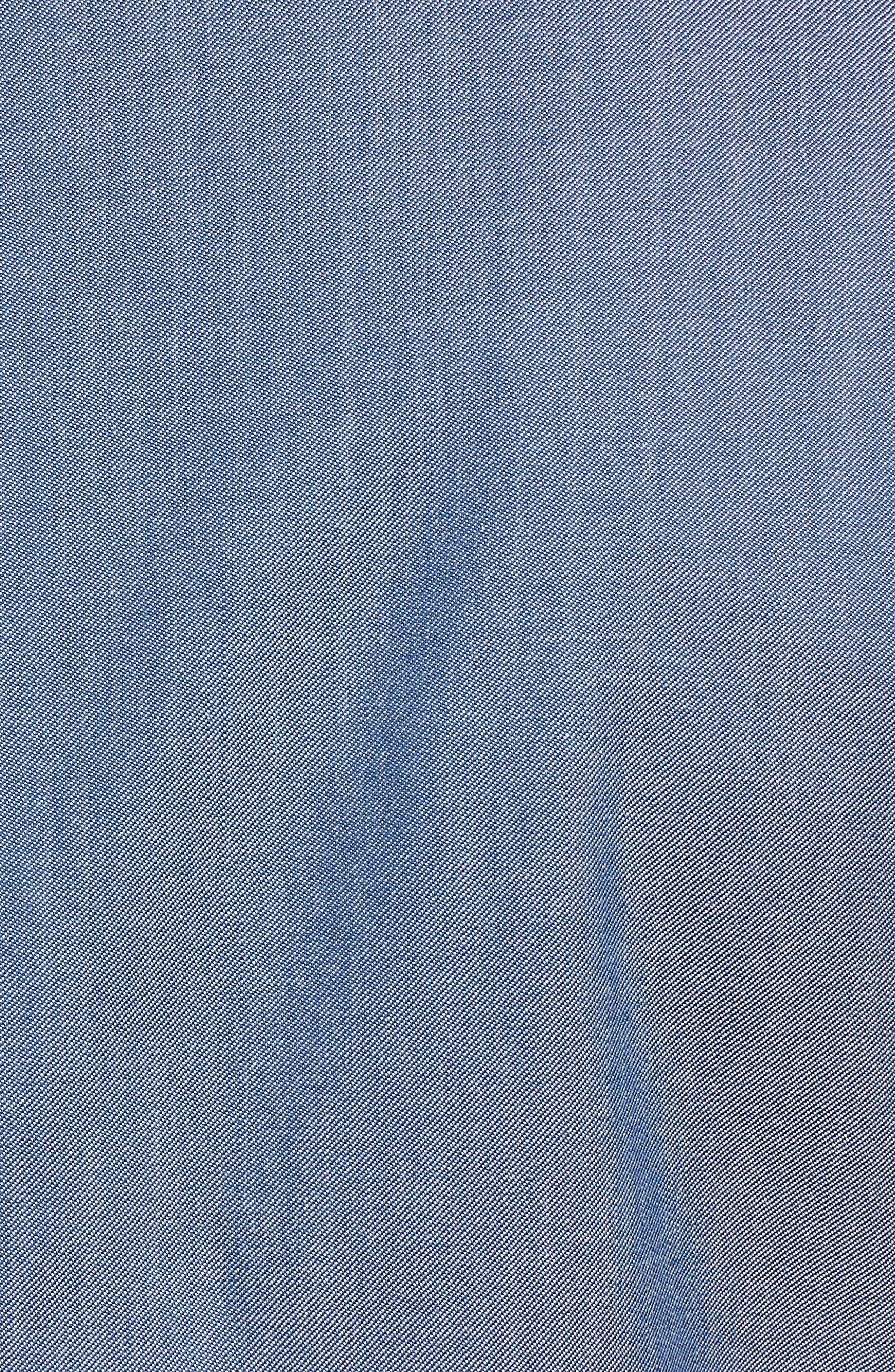 Trim Fit Wool & Cotton Blazer,                             Alternate thumbnail 5, color,                             Blue Denim
