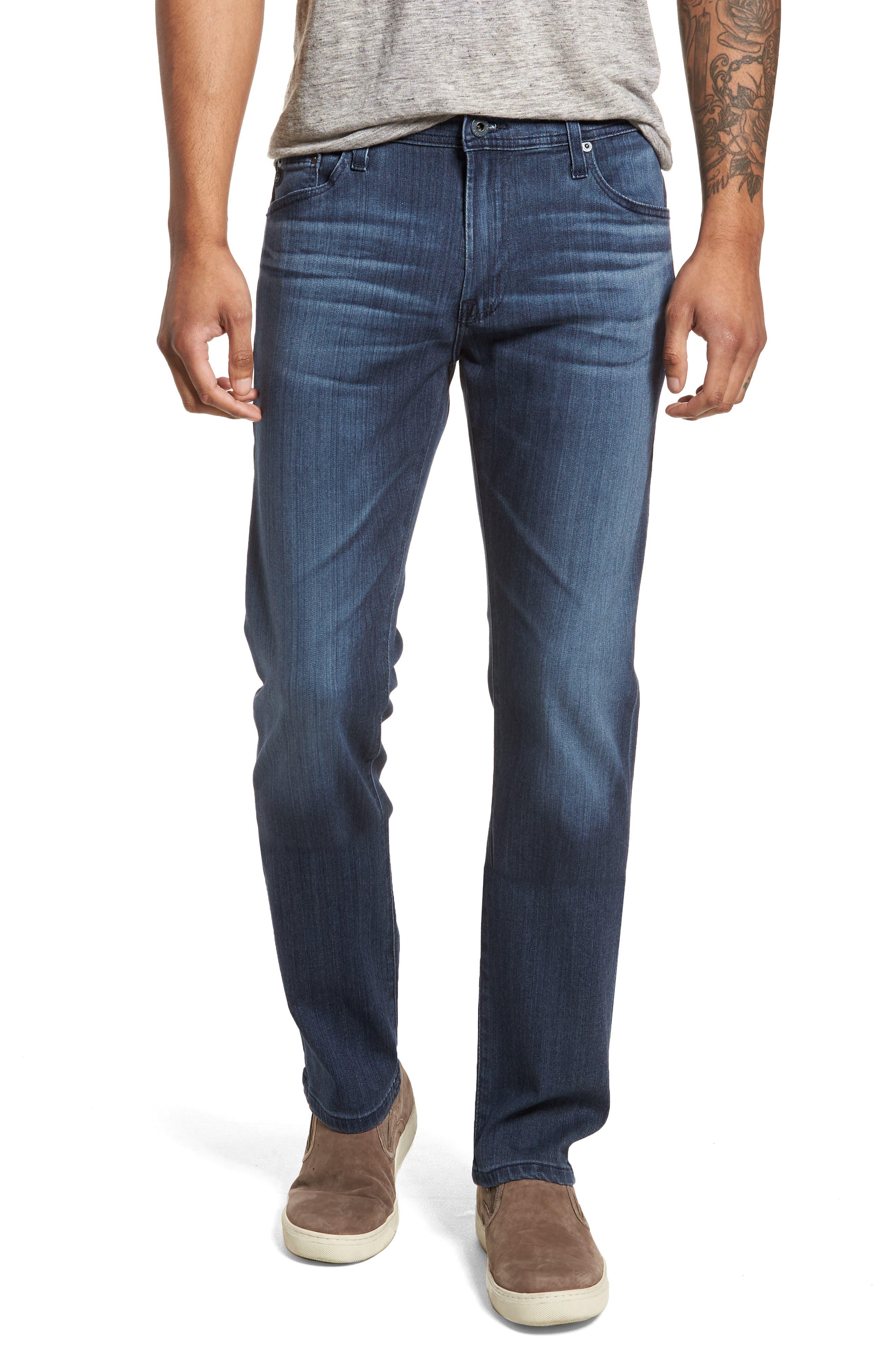 AG Everett Slim Straight Leg Jeans (Blue Point)