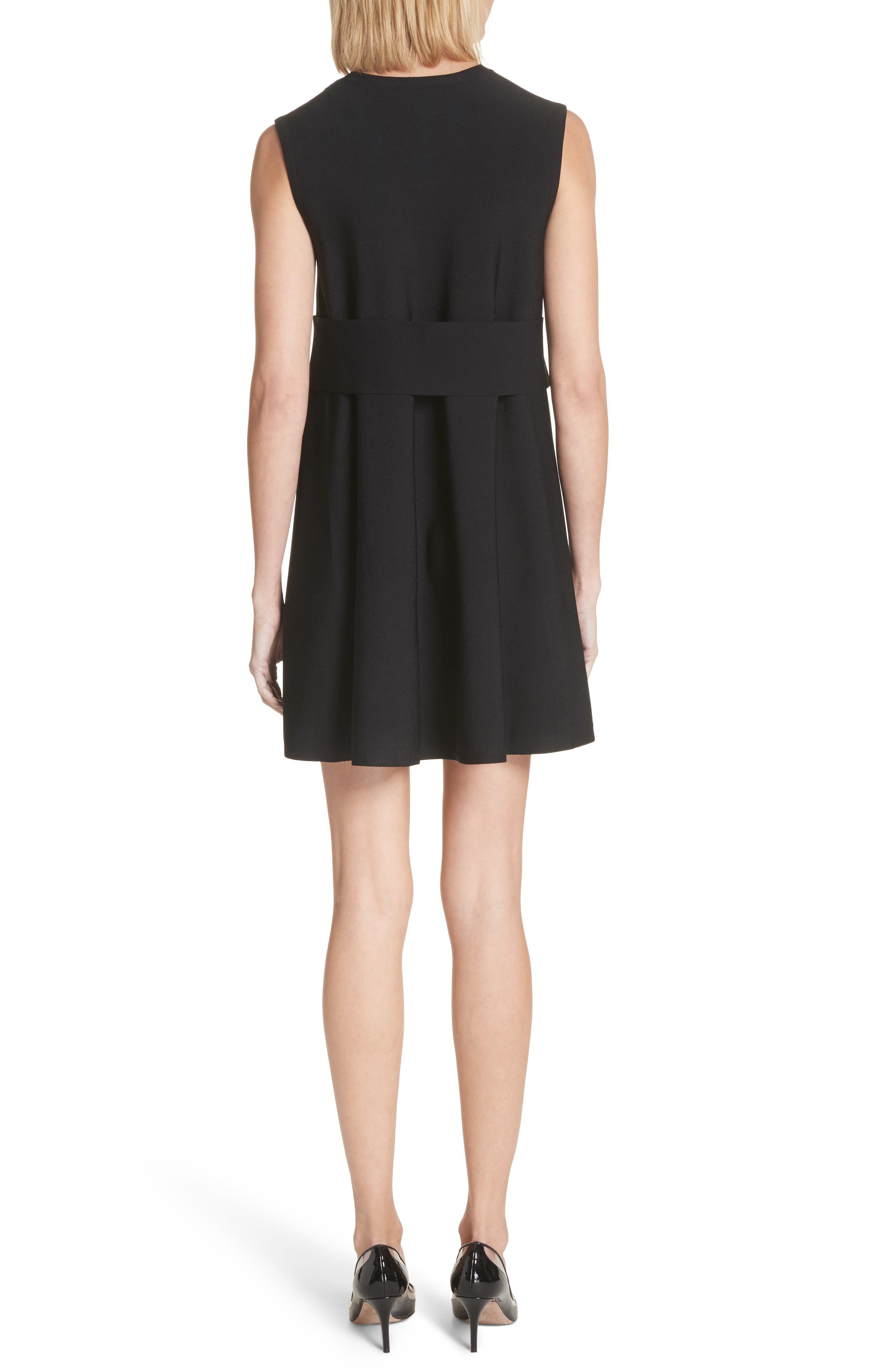 Lace Side Contrast Shift Dress,                             Alternate thumbnail 2, color,                             Ivory/ Black