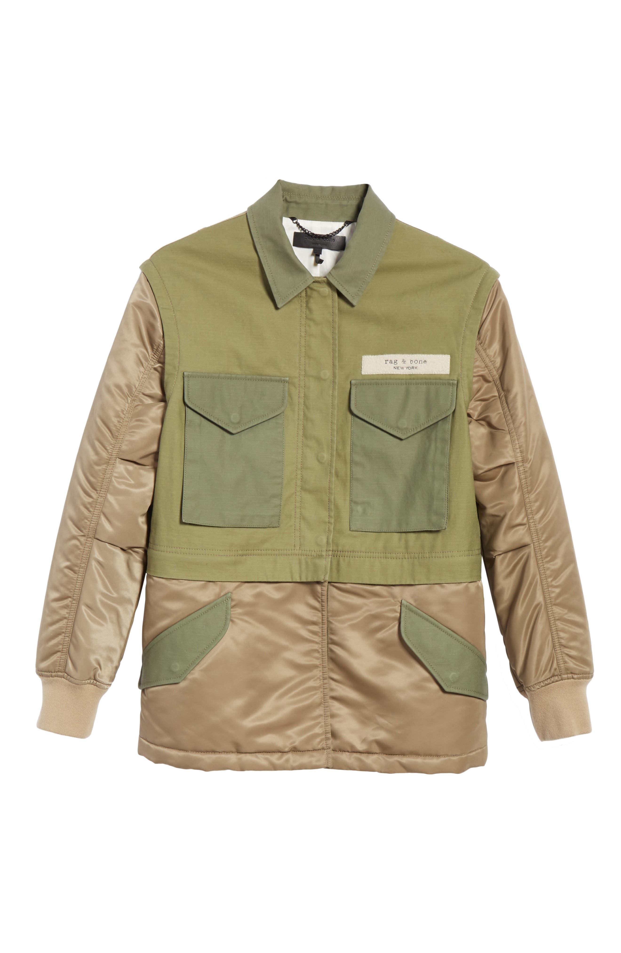 Modular Field Convertible Cotton Jacket,                             Alternate thumbnail 7, color,                             Dark Olive