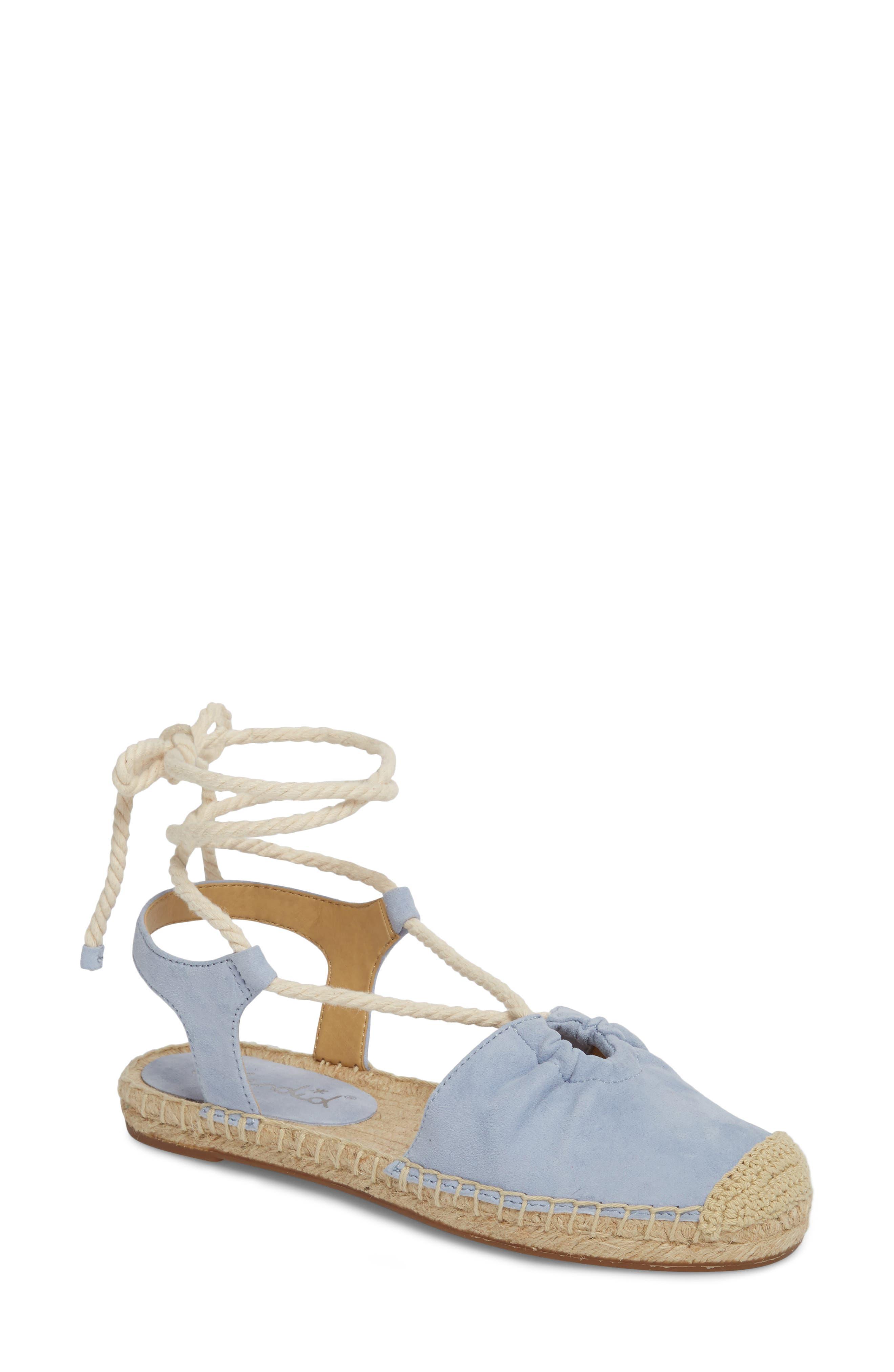 Splendid Frey Ankle Tie Espadrille Flat (Women)