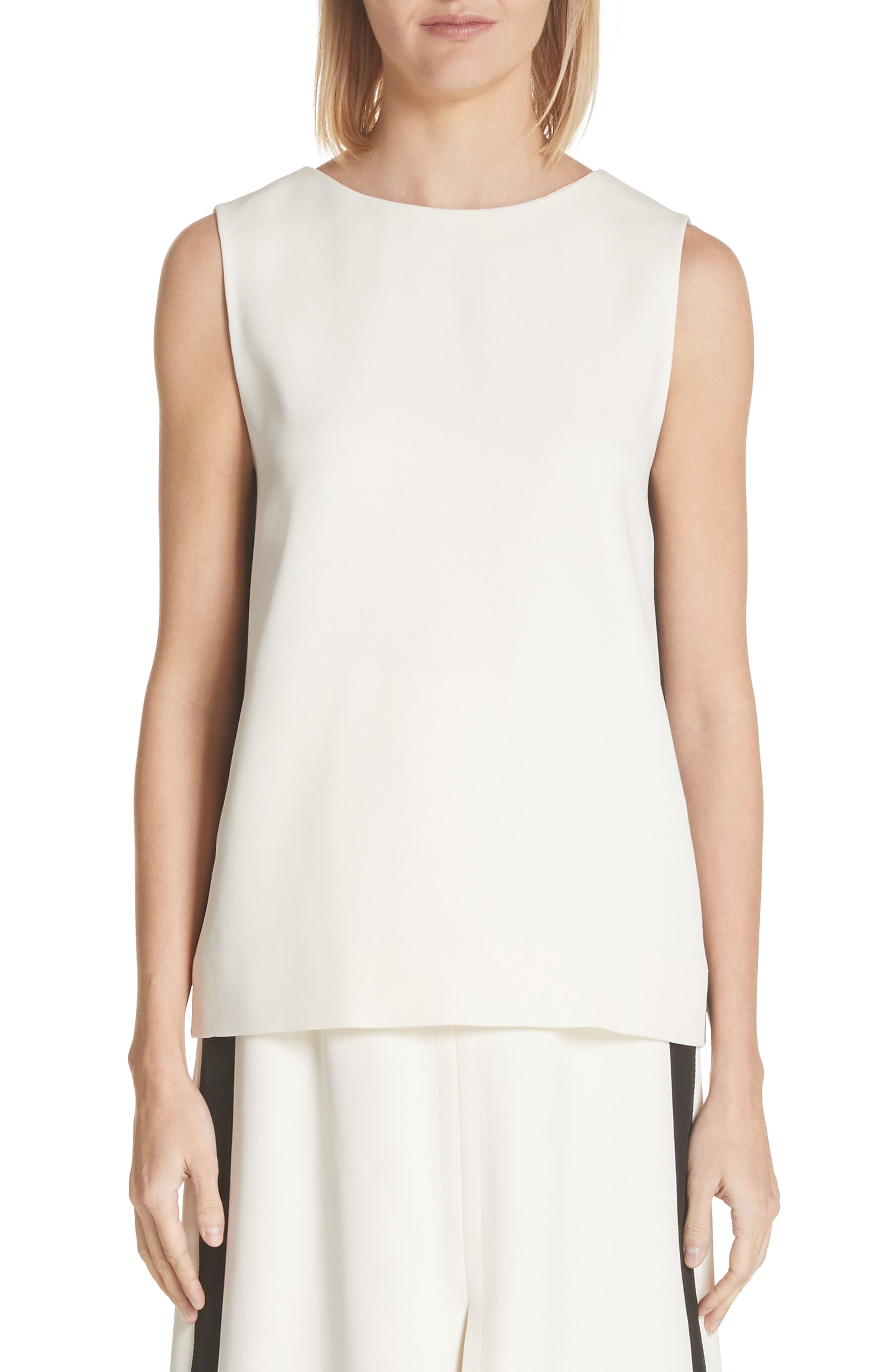 Derora Sleeveless V-Back Top,                         Main,                         color, Off White
