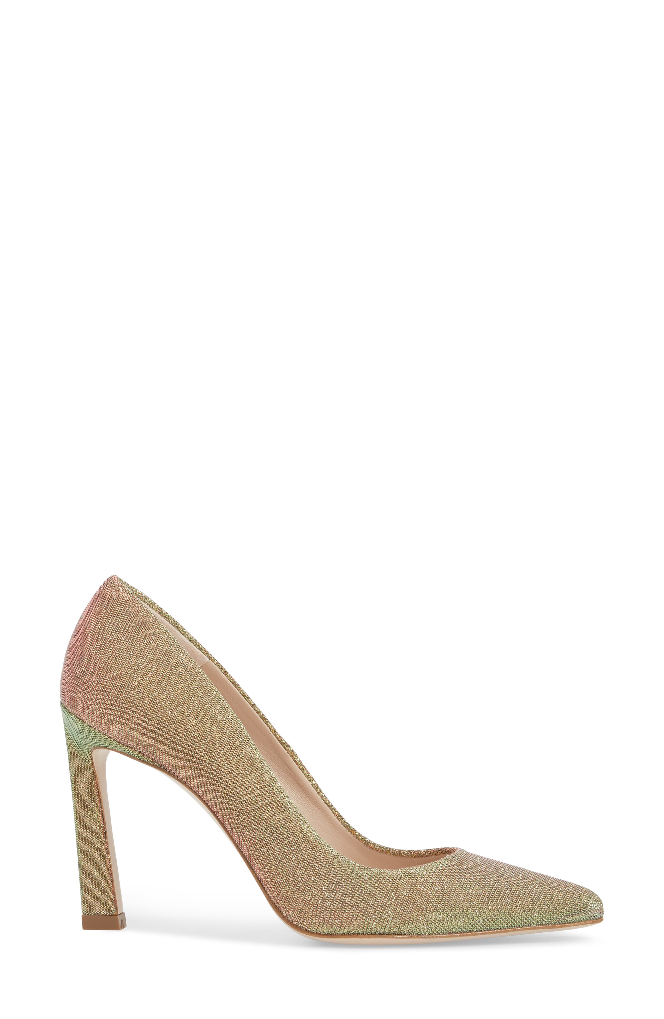 Chicster Pointy Toe Pump,                             Alternate thumbnail 3, color,                             Gold Multi Nighttime