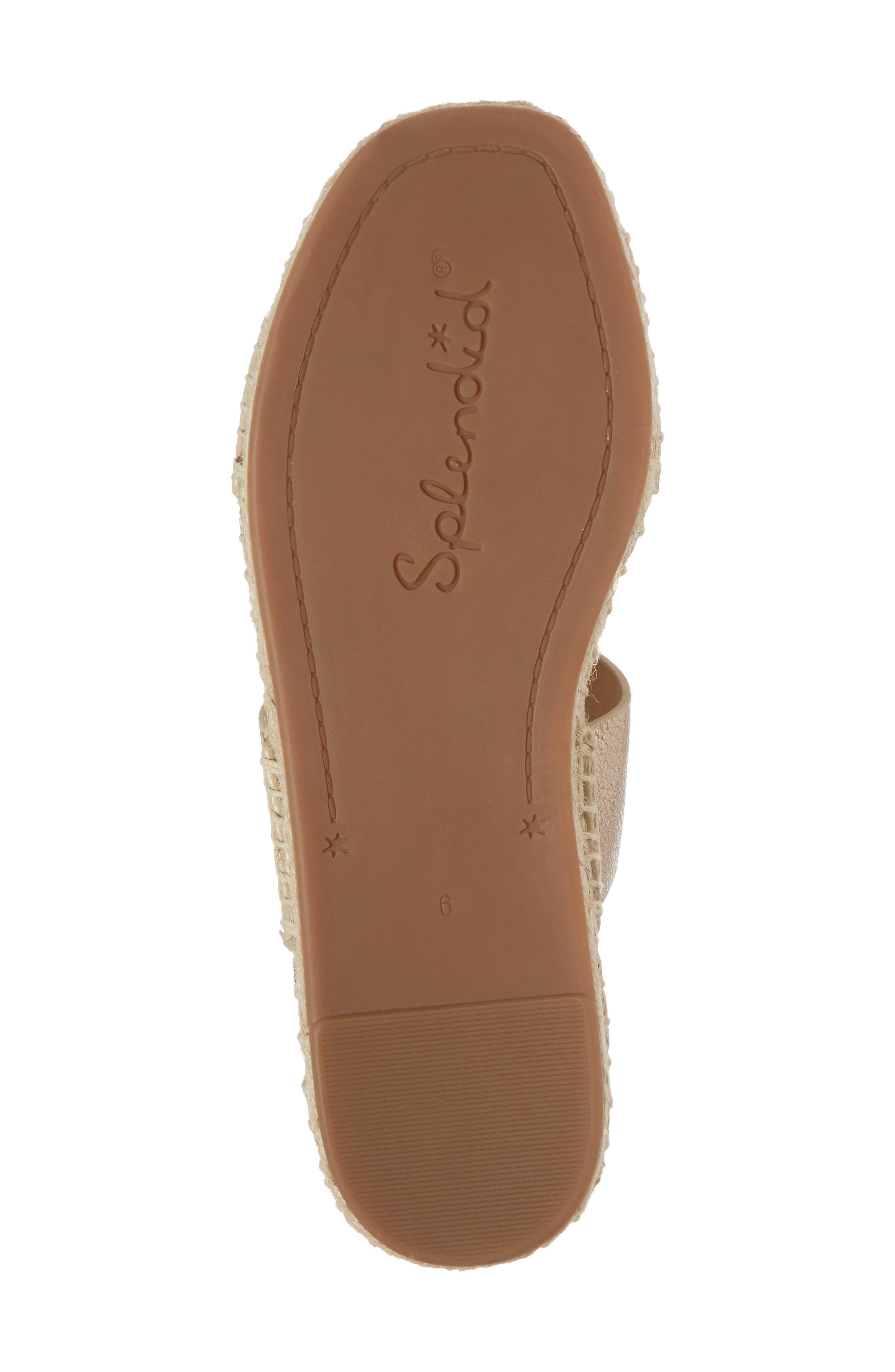 Farley Espadrille Sandal,                             Alternate thumbnail 6, color,                             Champagne Leather