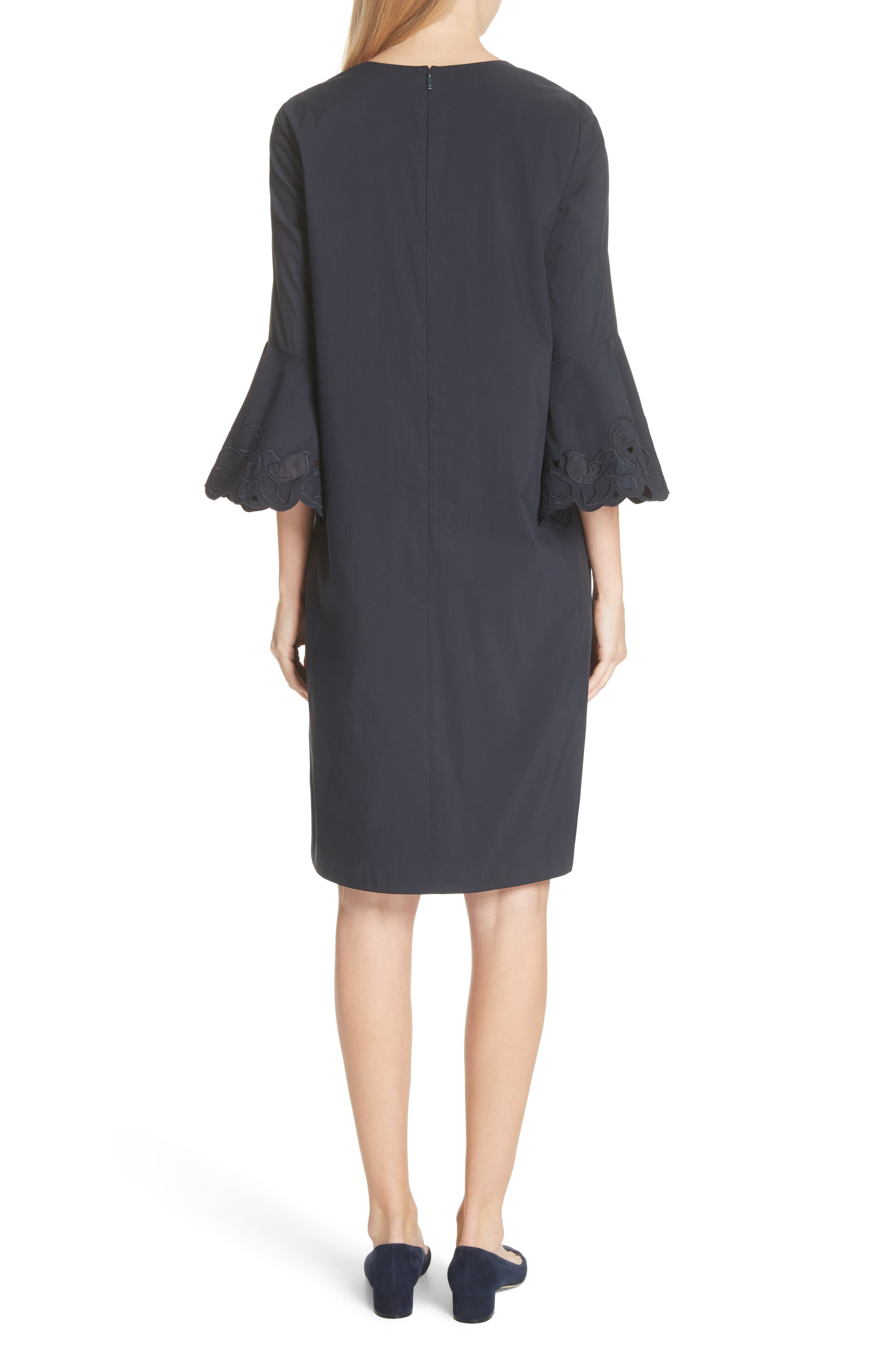 Holly Flare Cuff Dress,                             Alternate thumbnail 2, color,                             Ink