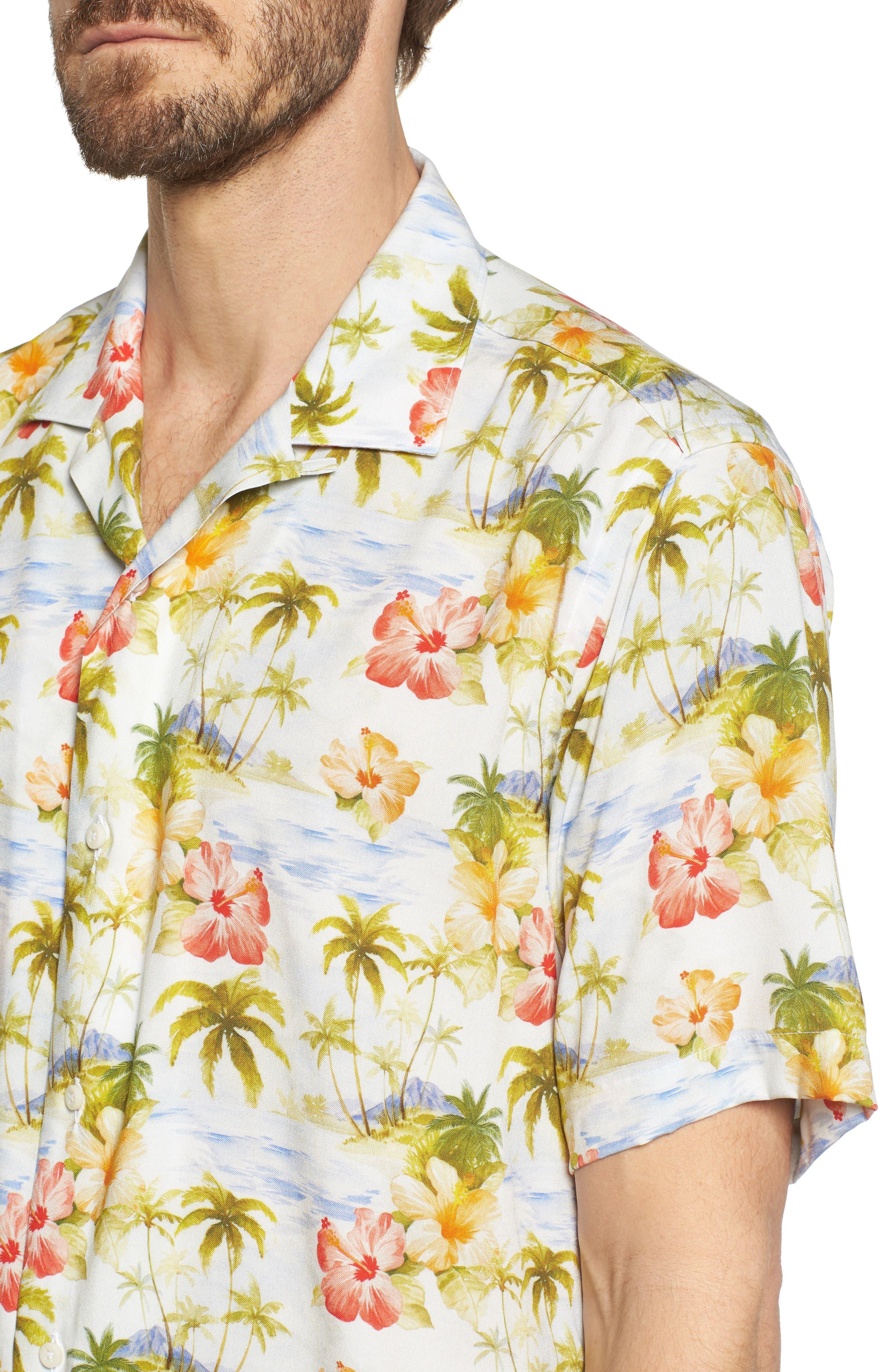 Camp Shirt,                             Alternate thumbnail 4, color,                             Multi
