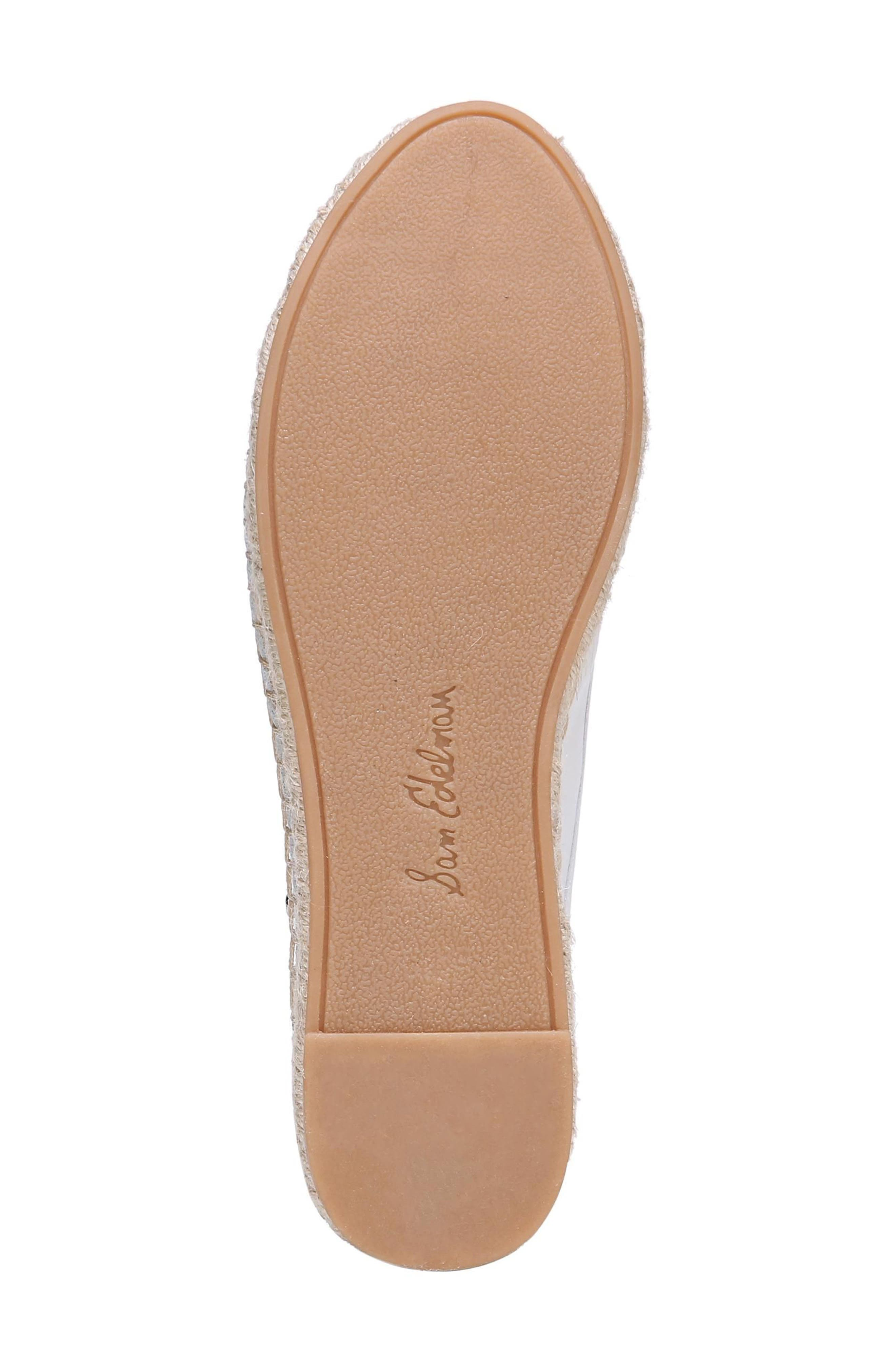 Kerry Espadrille Mule,                             Alternate thumbnail 6, color,                             Bright White Leather