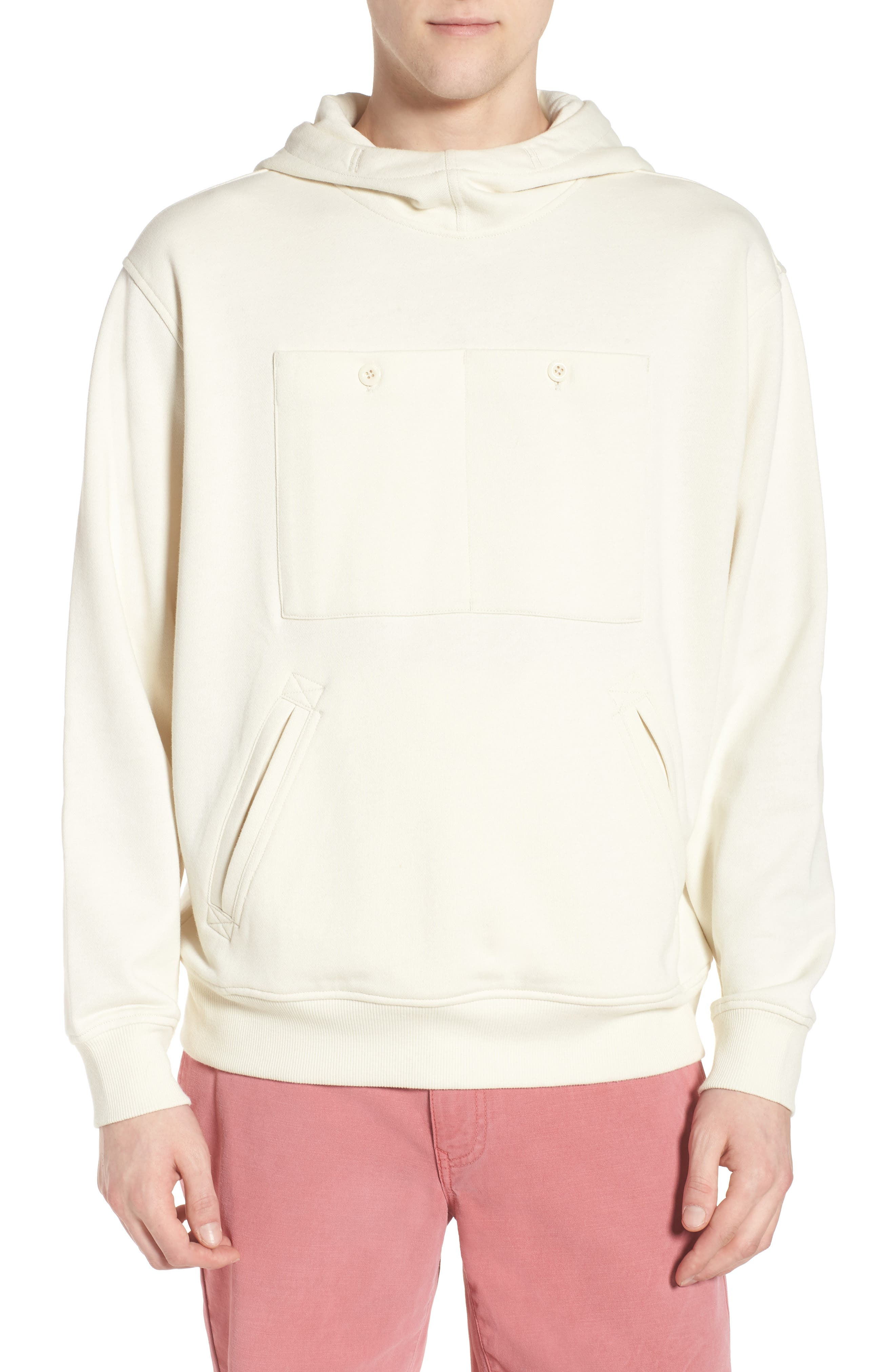 Core Hybrid Archive Hooded Sweatshirt,                         Main,                         color, Ivory