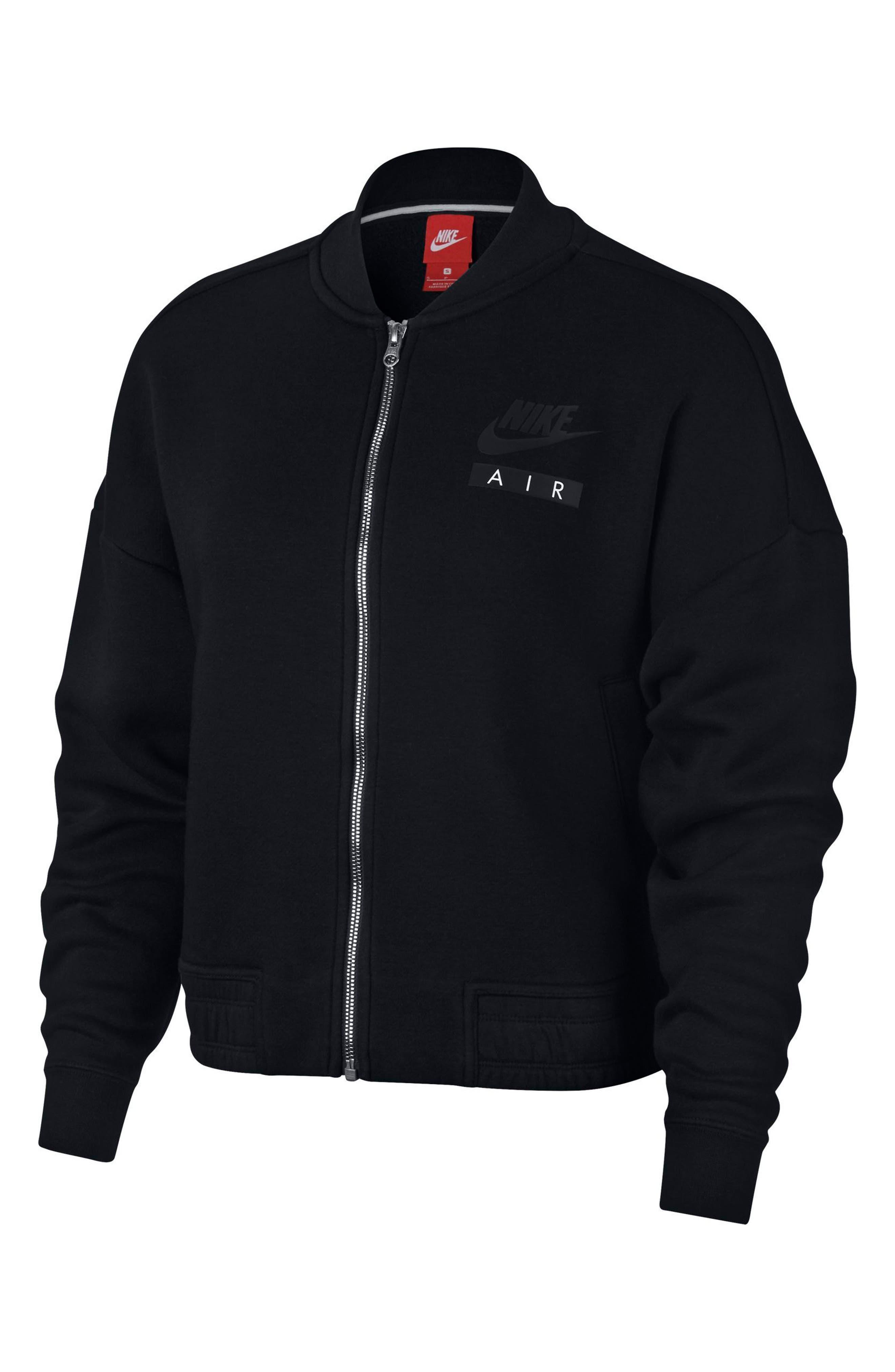 Sportswear Rally Jacket,                             Alternate thumbnail 4, color,                             Black/ Black/ Black