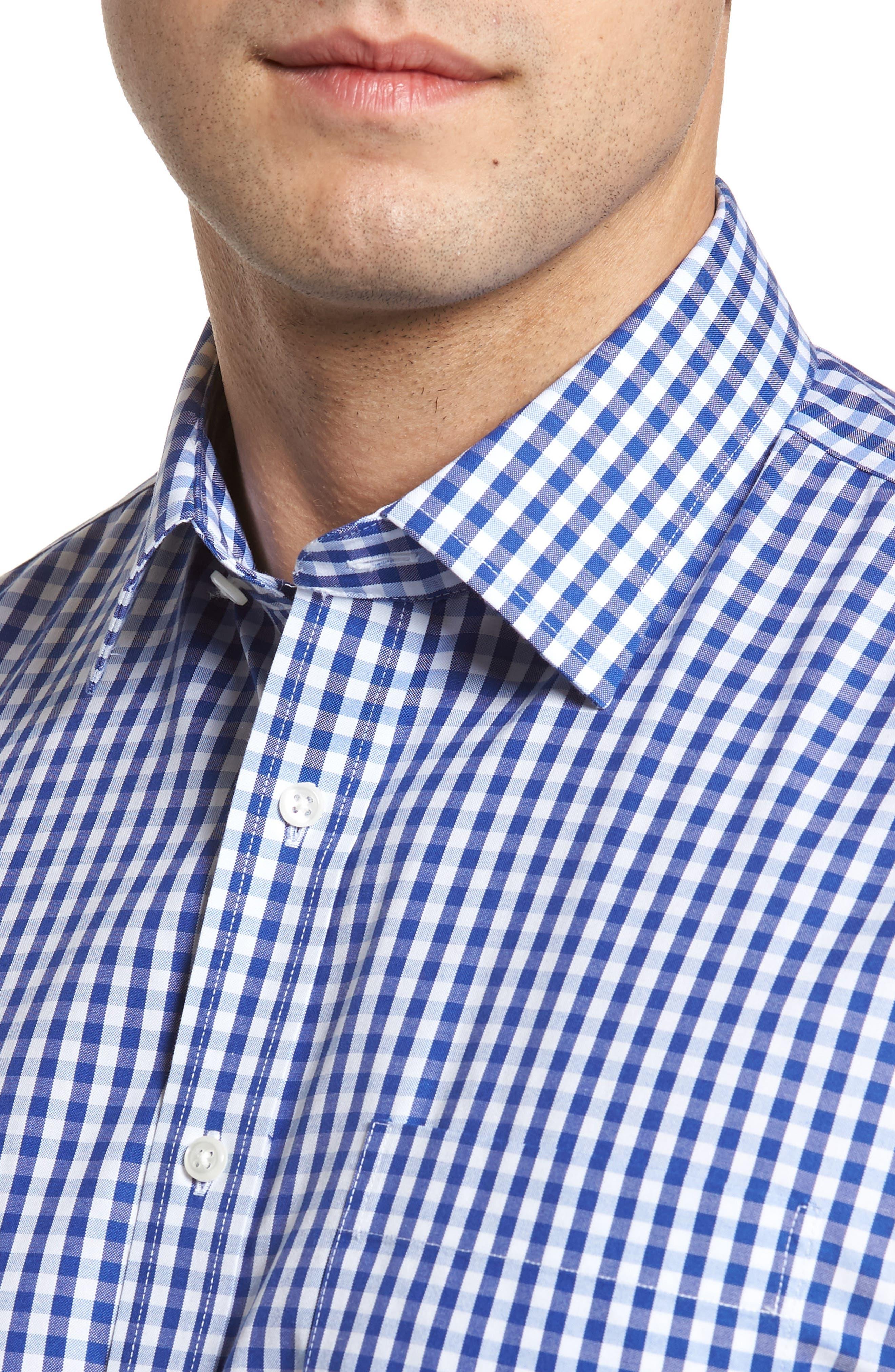 Alternate Image 4  - Nordstrom Men's Shop Smartcare™ Traditional Fit Check Dress Shirt