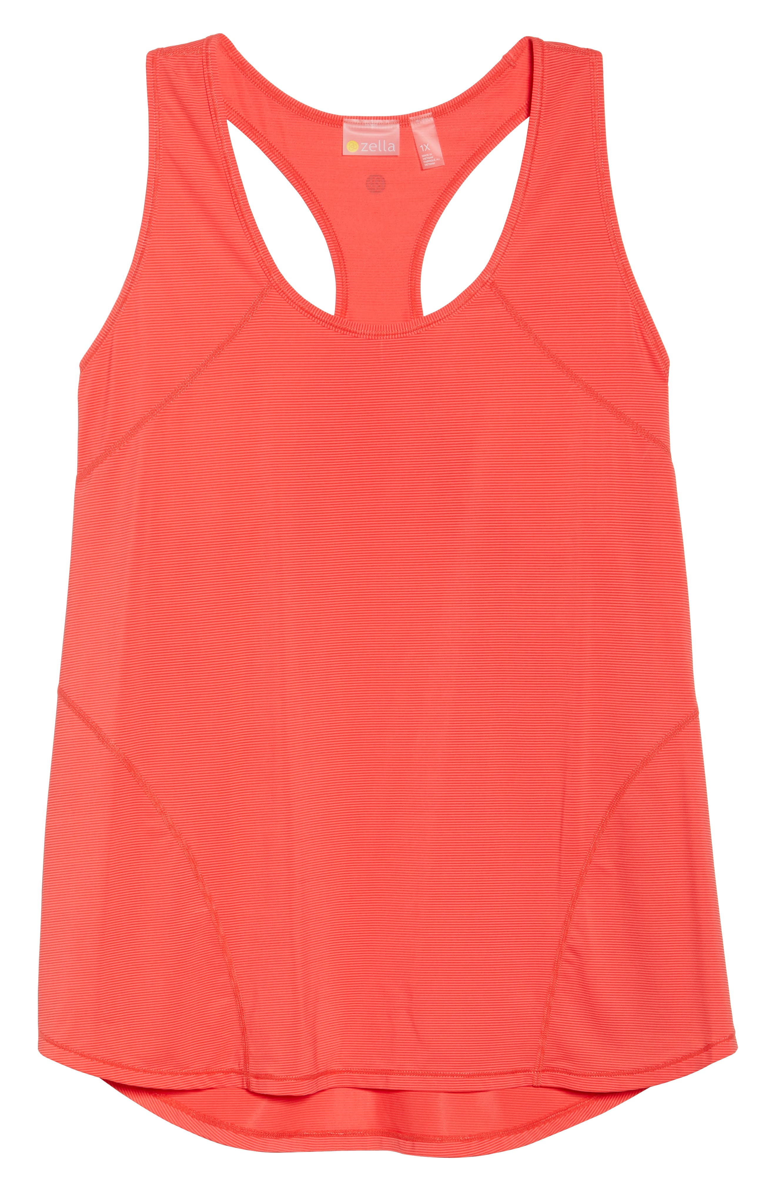 Pace Tank,                             Alternate thumbnail 5, color,                             Red Hibiscus