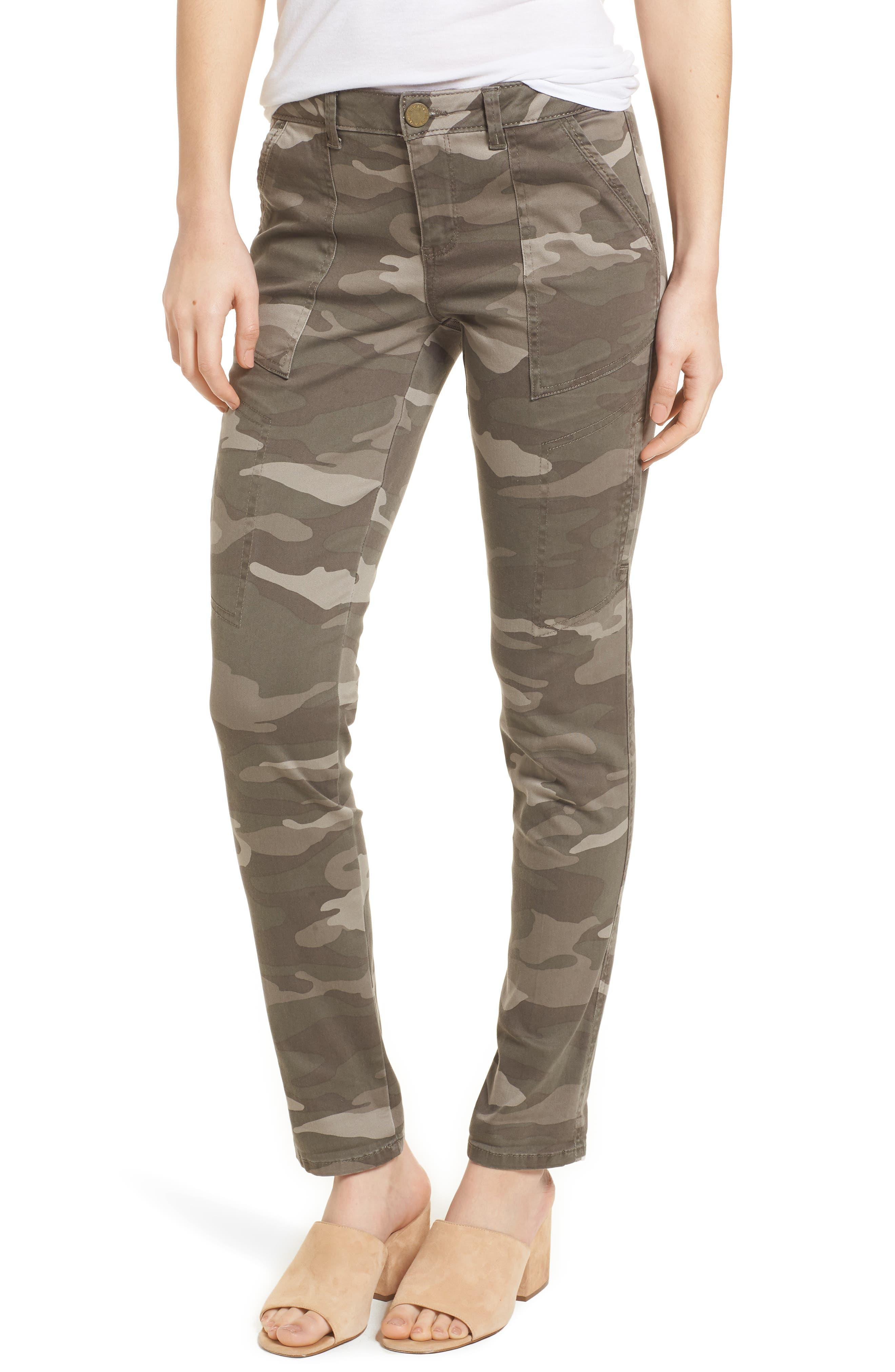 Twill Camo Cargo Pants,                         Main,                         color, Mr. Mushroom