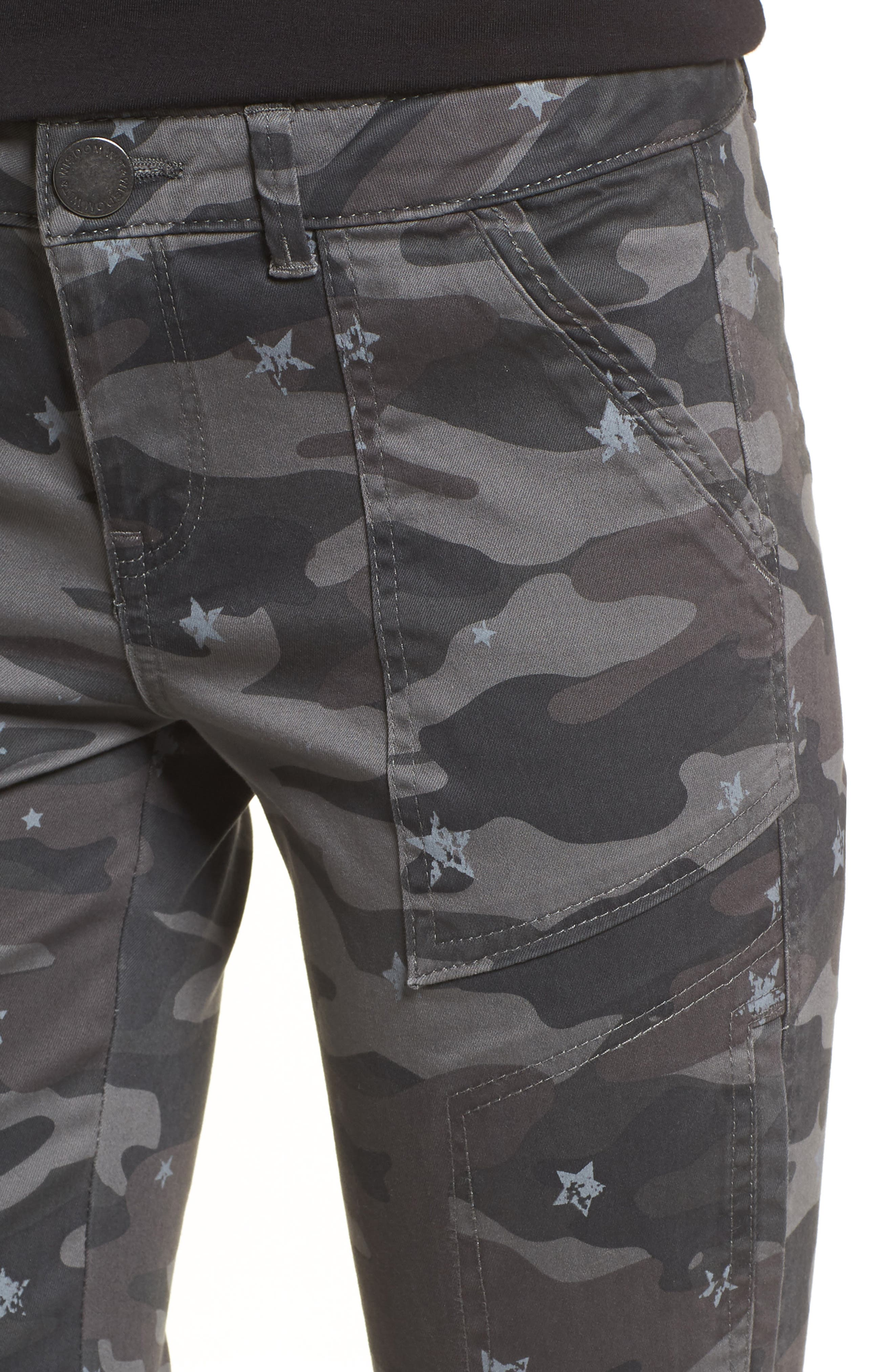 Twill Star Camo Cargo Pants,                             Alternate thumbnail 4, color,                             Cc- Charcoal