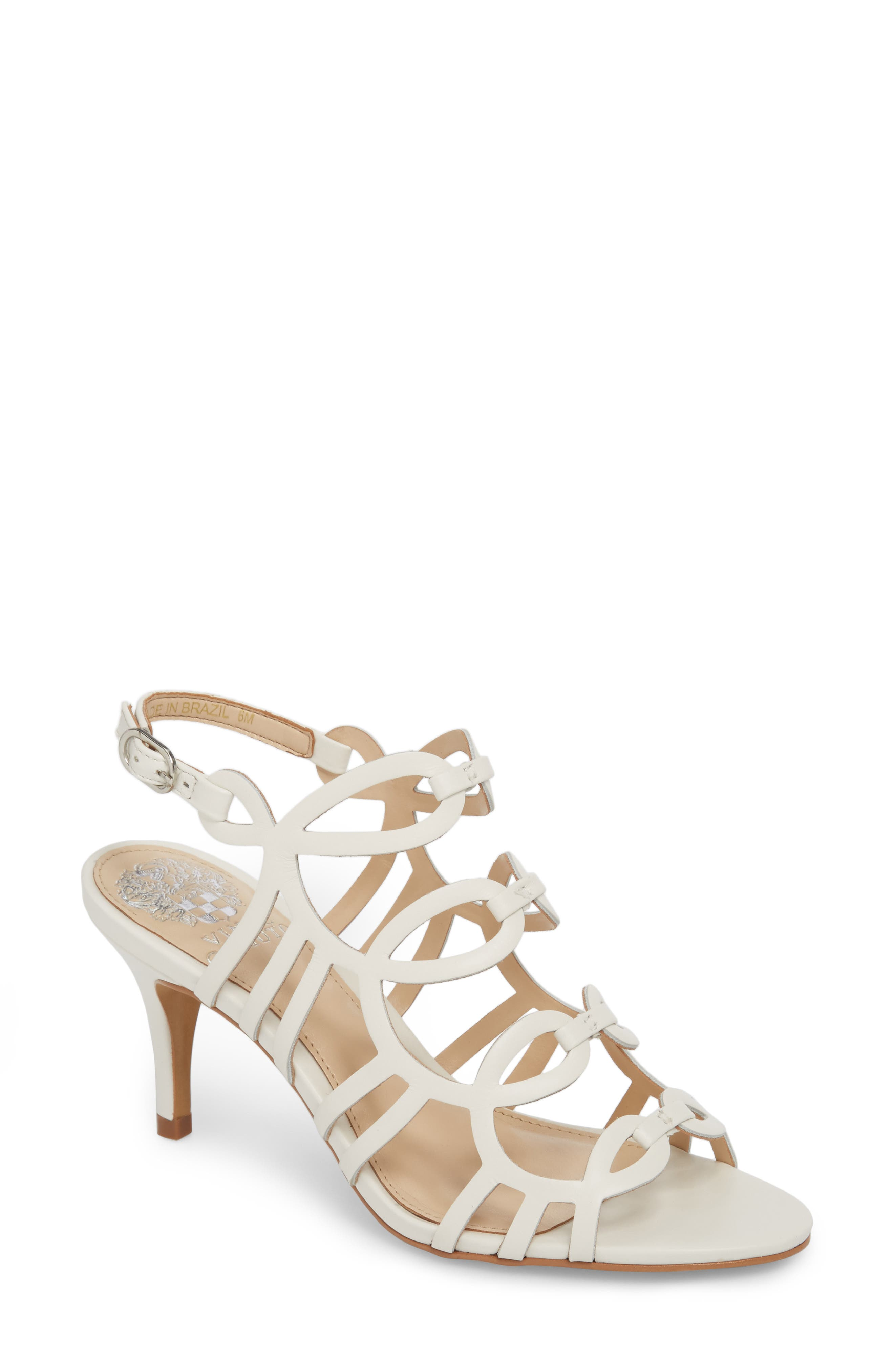 Petina Sandal,                         Main,                         color, White Leather