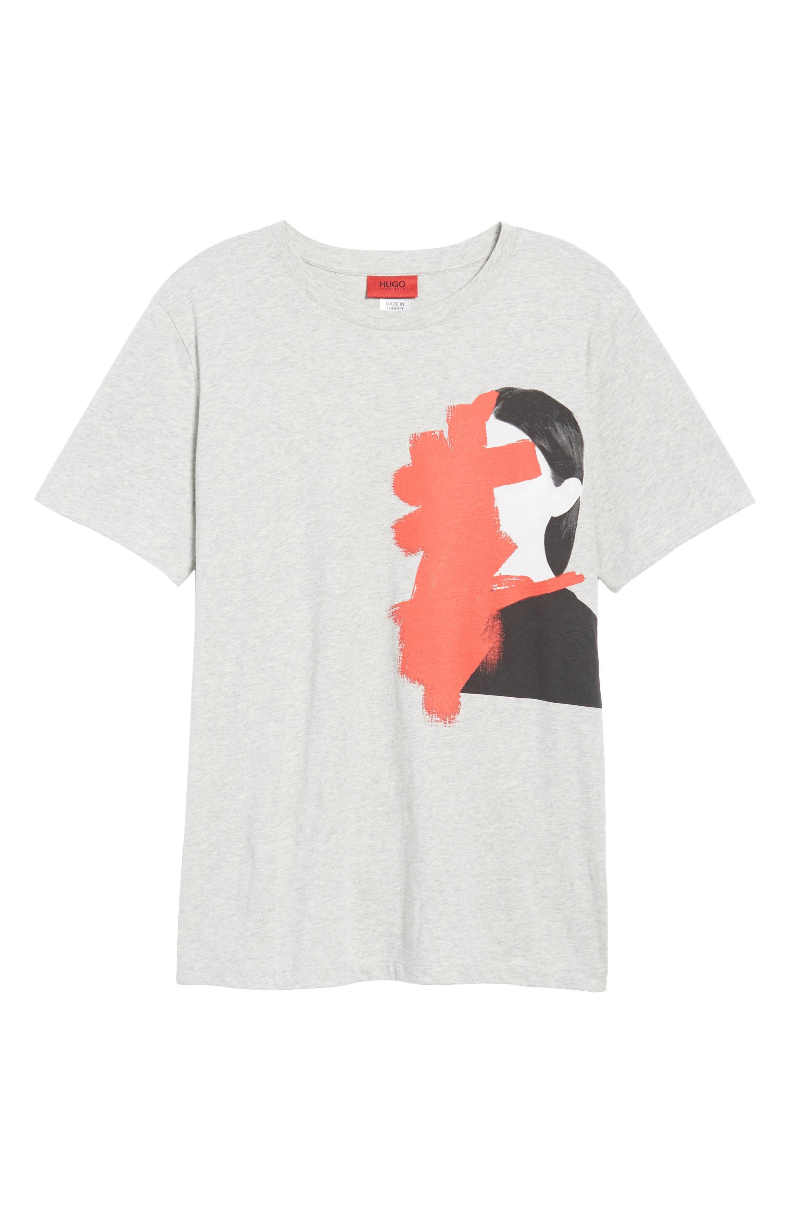 Drush Slim Fit Graphic T-Shirt,                             Alternate thumbnail 6, color,                             Grey