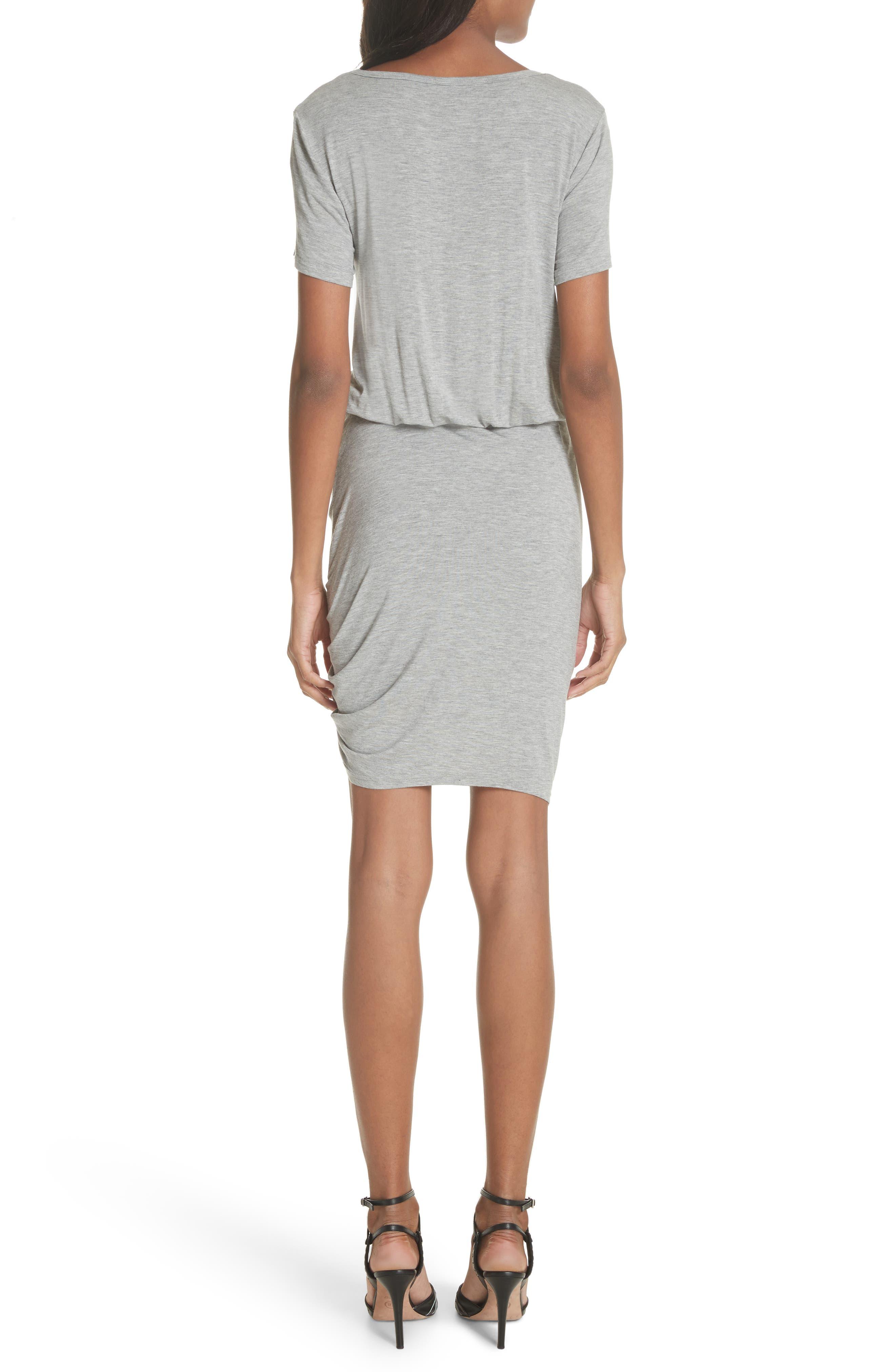 Yari Blouson Dress,                             Alternate thumbnail 2, color,                             Grey
