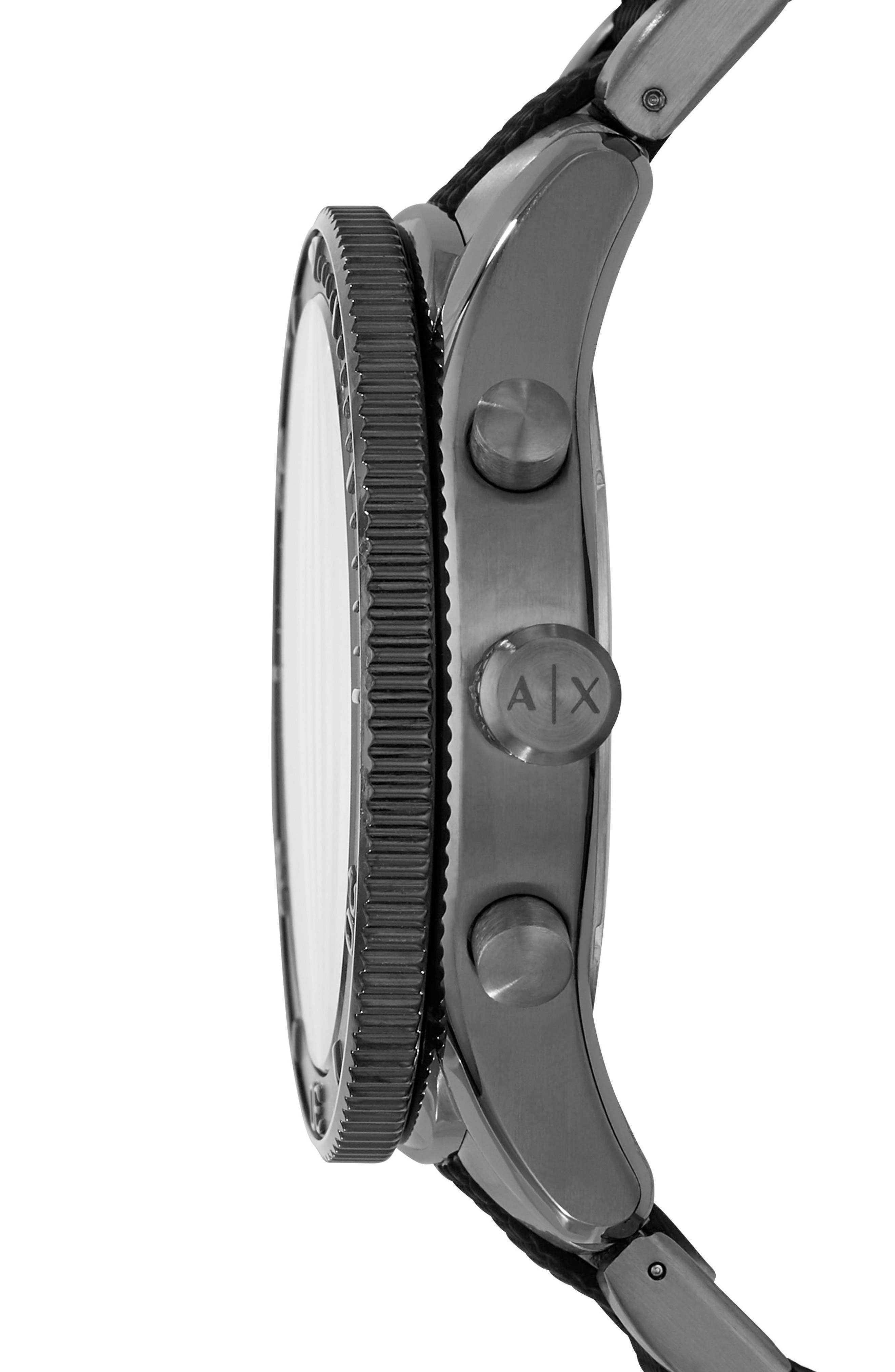 Chronograph Bracelet Watch, 46mm,                             Alternate thumbnail 2, color,                             Gunmetal/ Gunmetal