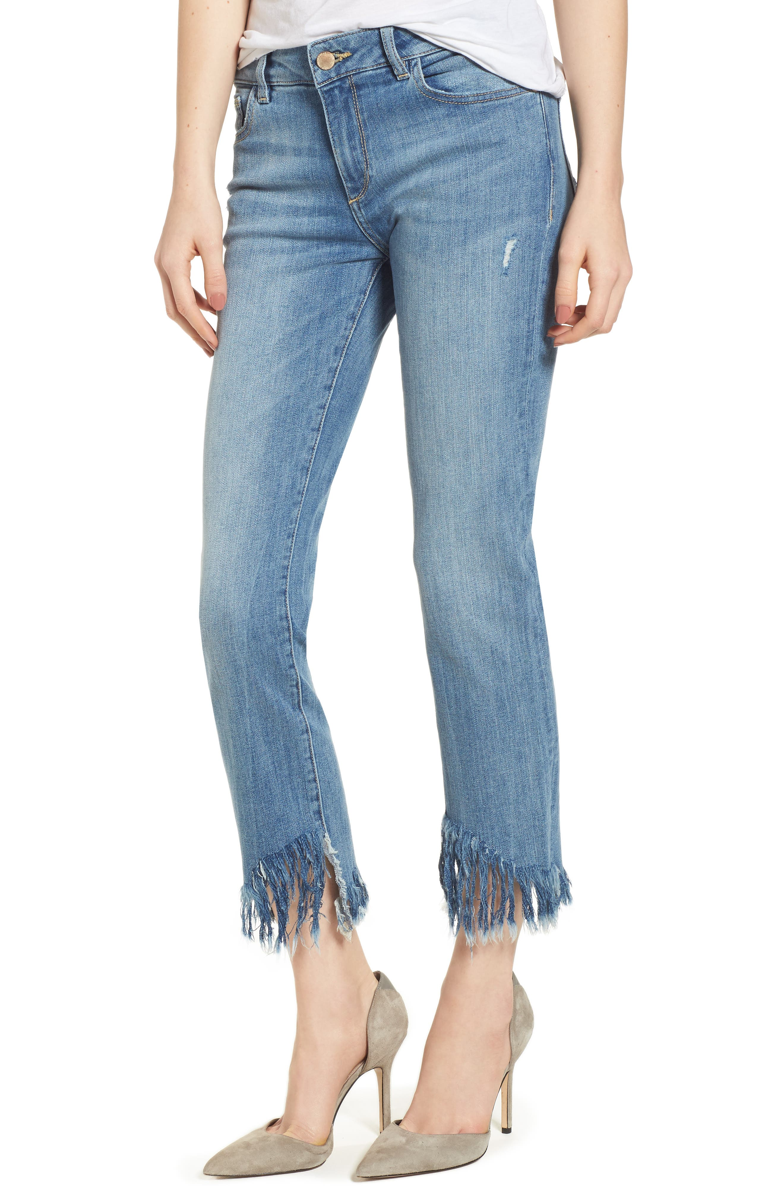 Mara Instasculpt Ankle Straight Leg Jeans,                         Main,                         color, Upstate
