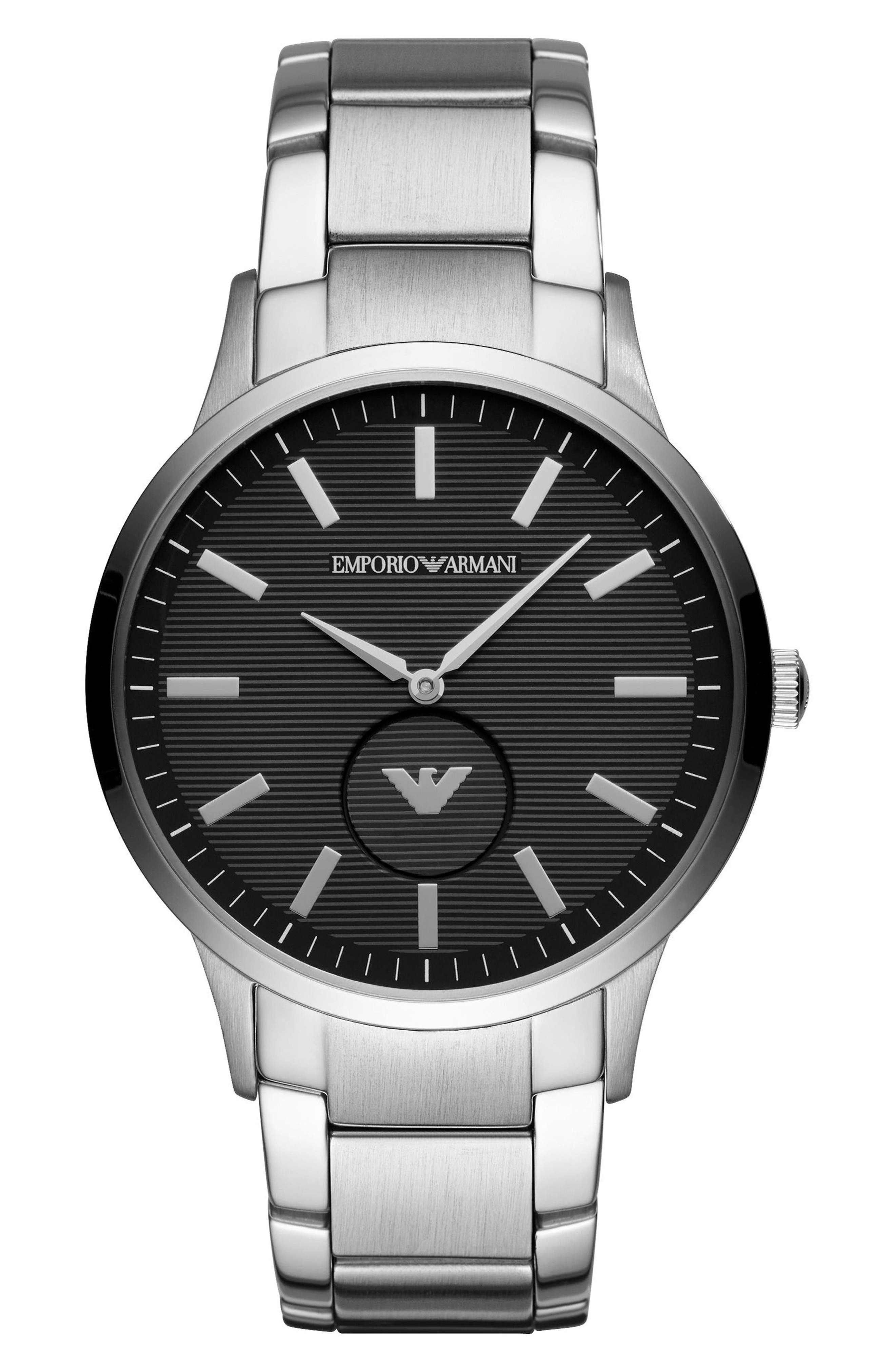 Main Image - Emporio Armani Round Bracelet Watch, 43mm