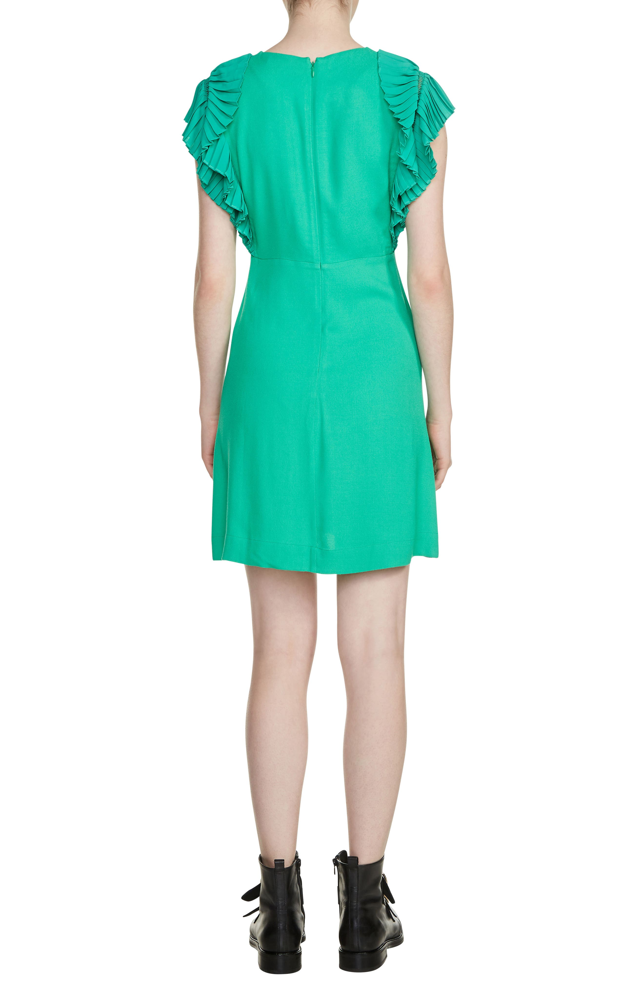 Rolana Ruffle Trim Dress,                             Alternate thumbnail 2, color,                             Green